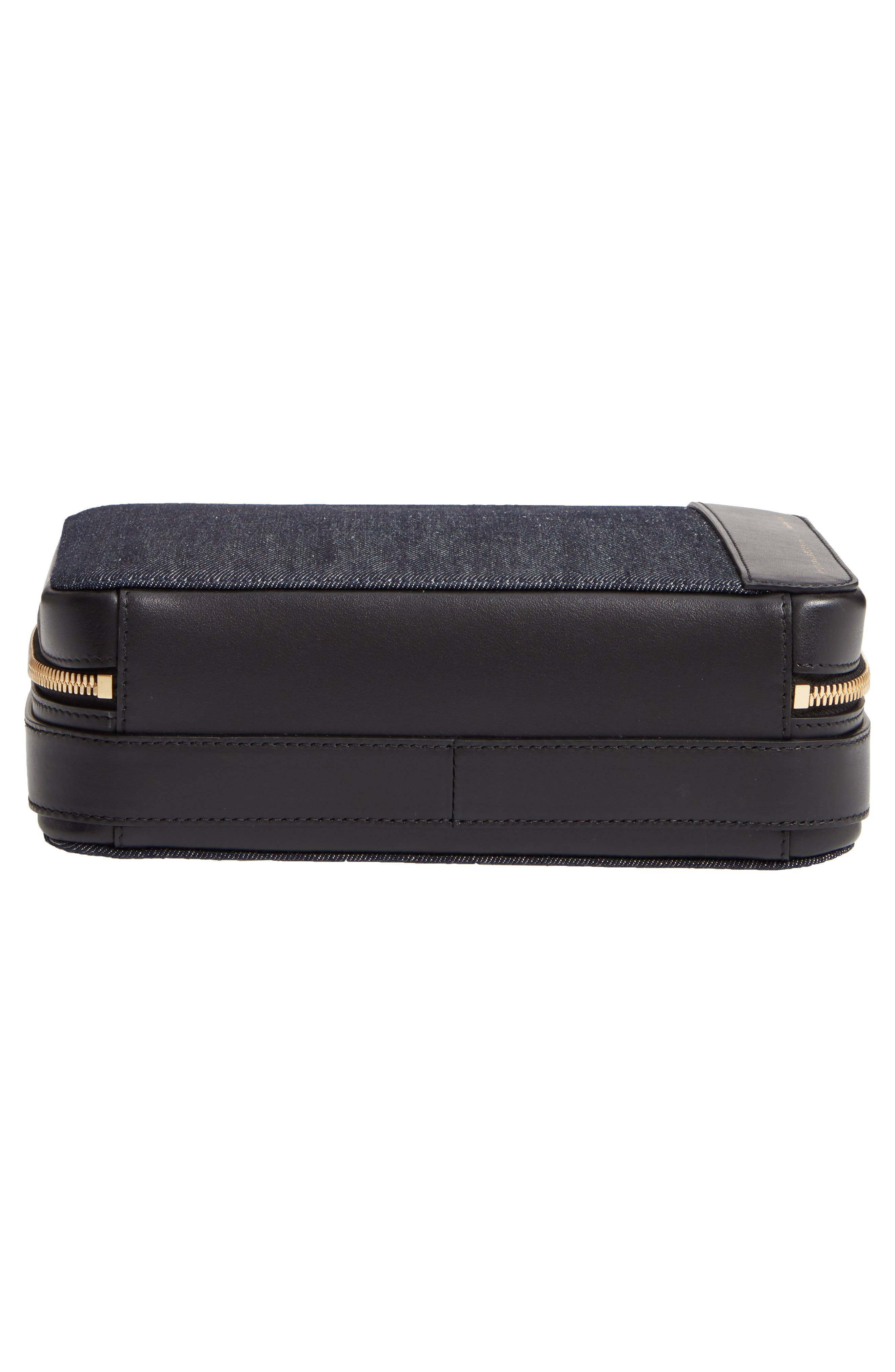 VICTORIA BECKHAM, Vanity Denim & Leather Camera Bag, Alternate thumbnail 6, color, INDIGO/ BLACK