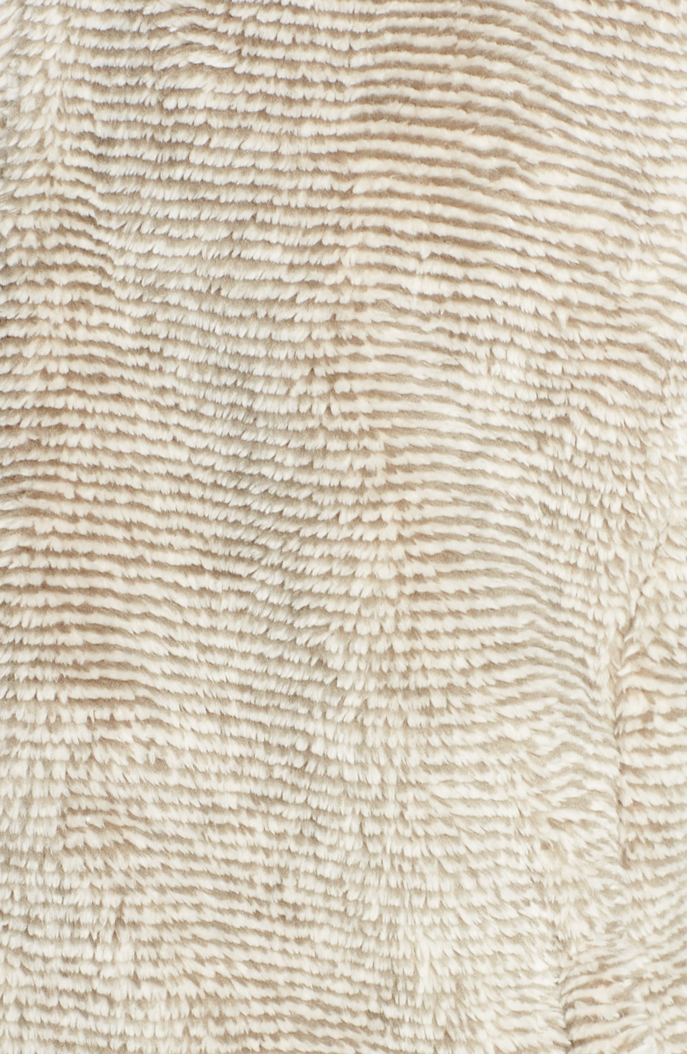THE NORTH FACE, Osito 2 Stripe Fleece Jacket, Alternate thumbnail 7, color, GREY/ VINTAGE WHITE STRIPE