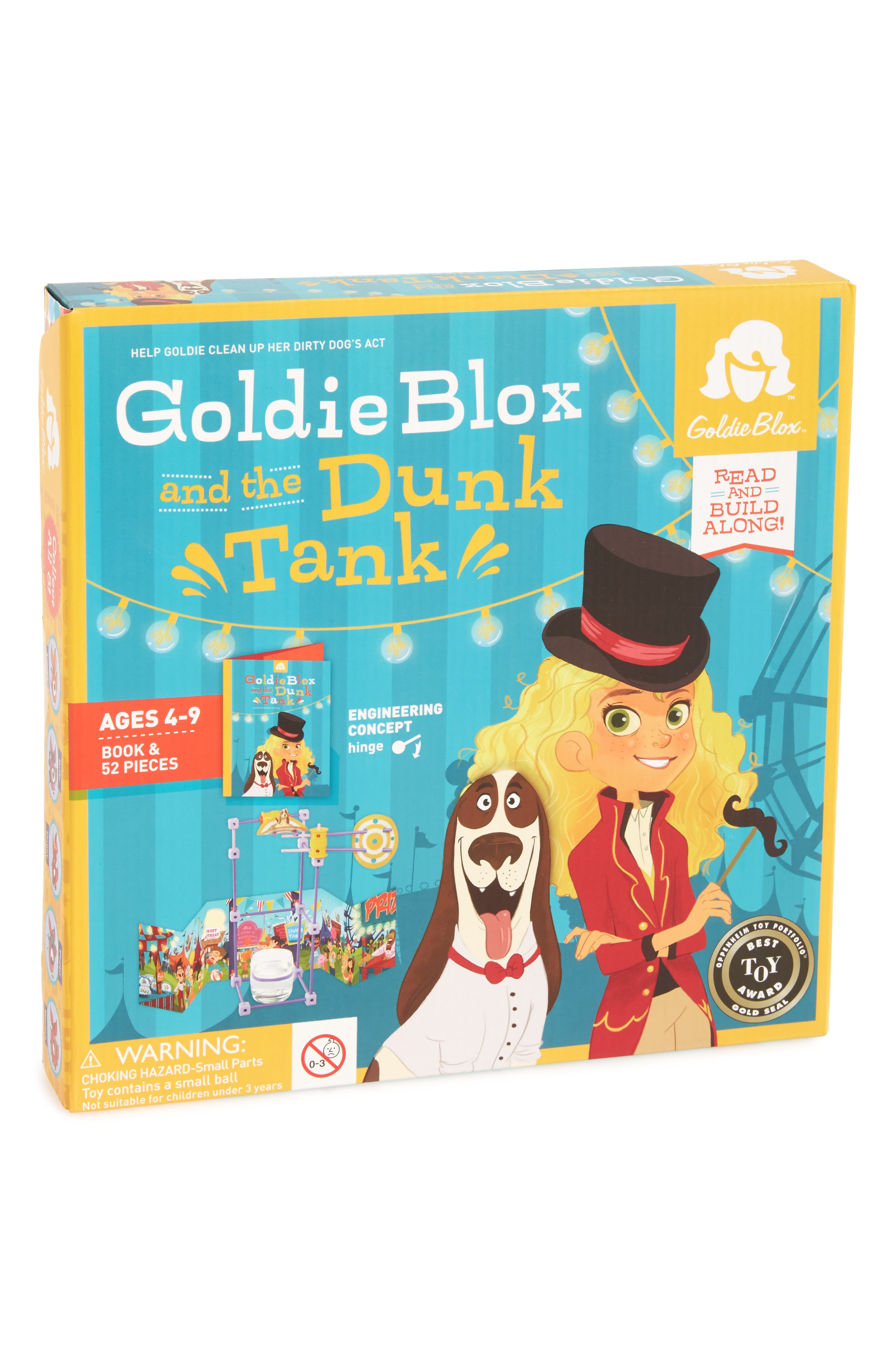GOLDIEBLOX, Dunk Tank Book & Construction Set, Main thumbnail 1, color, 400