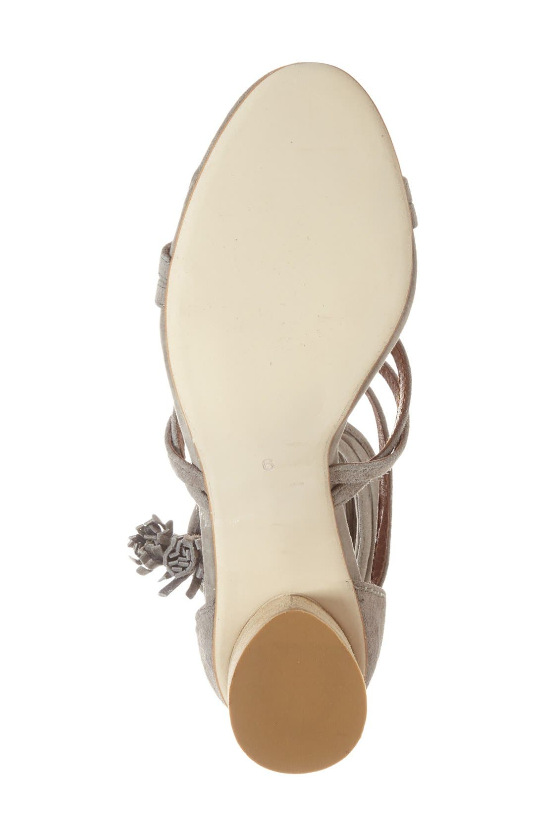 JEFFREY CAMPBELL, 'Despina' Strappy Sandal, Alternate thumbnail 3, color, TAUPE SUEDE