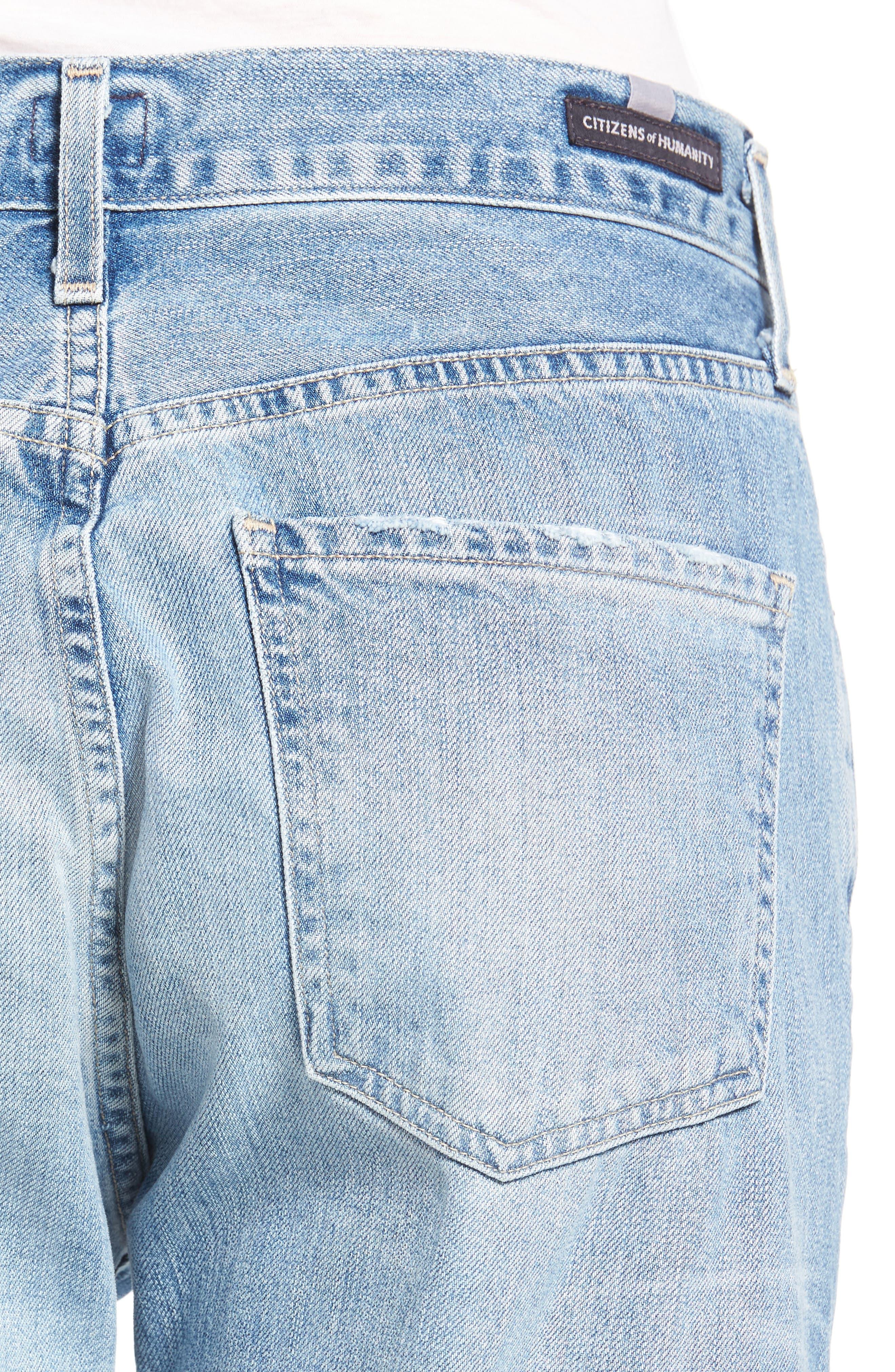CITIZENS OF HUMANITY, Liya High Waist Boyfriend Jeans, Alternate thumbnail 4, color, SUNDAY MORNING