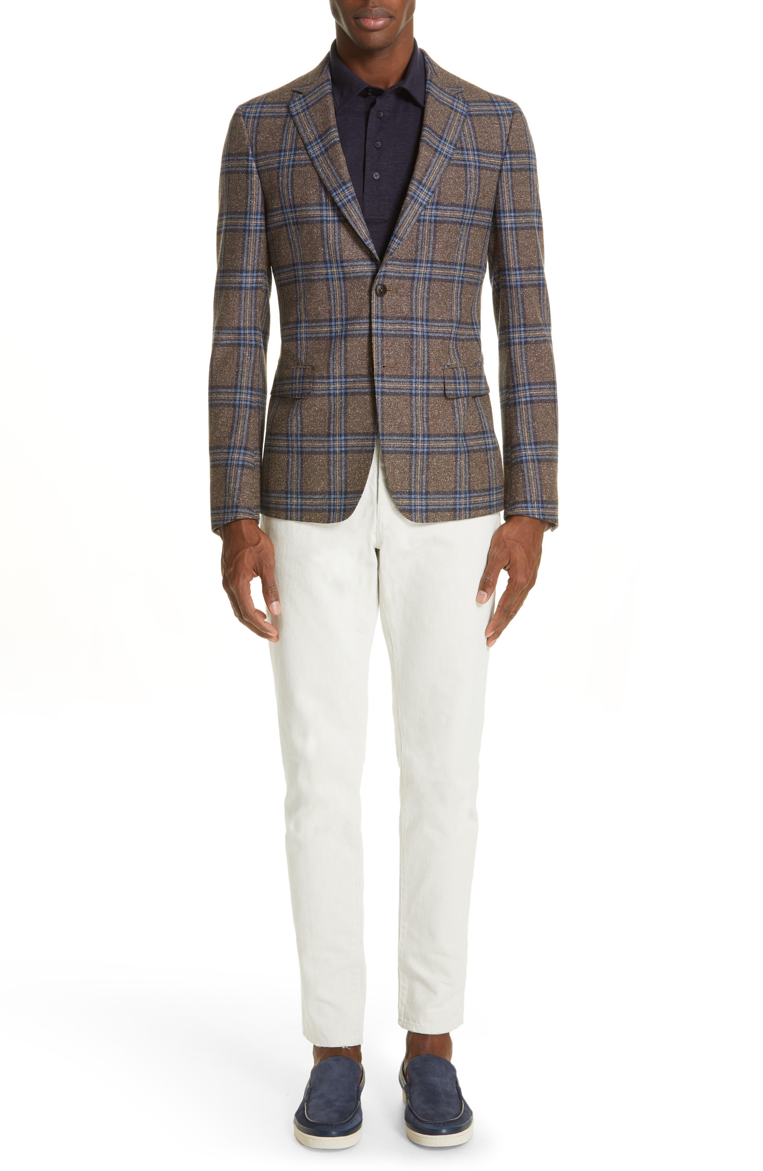ERMENEGILDO ZEGNA, Ermenegilda Zegna Linen Polo Shirt, Alternate thumbnail 7, color, NAVY
