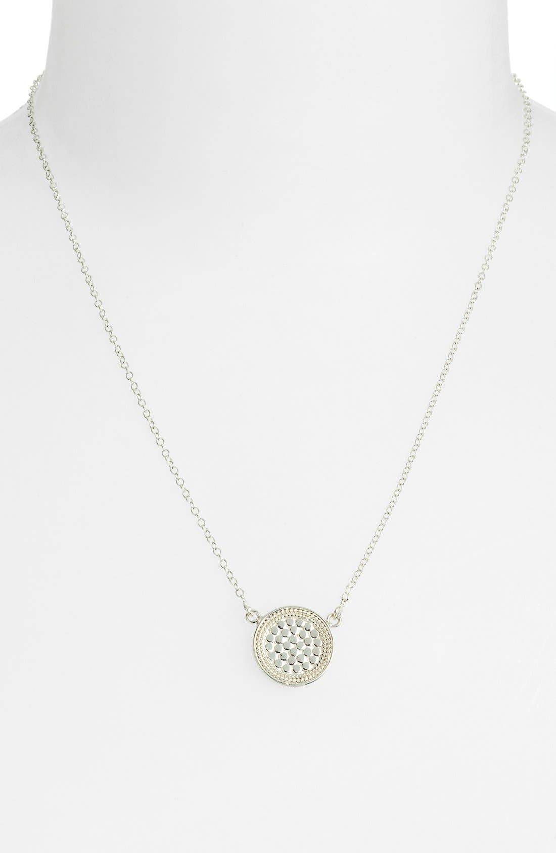 ANNA BECK, Reversible Disc Necklace, Alternate thumbnail 7, color, GOLD/ SILVER