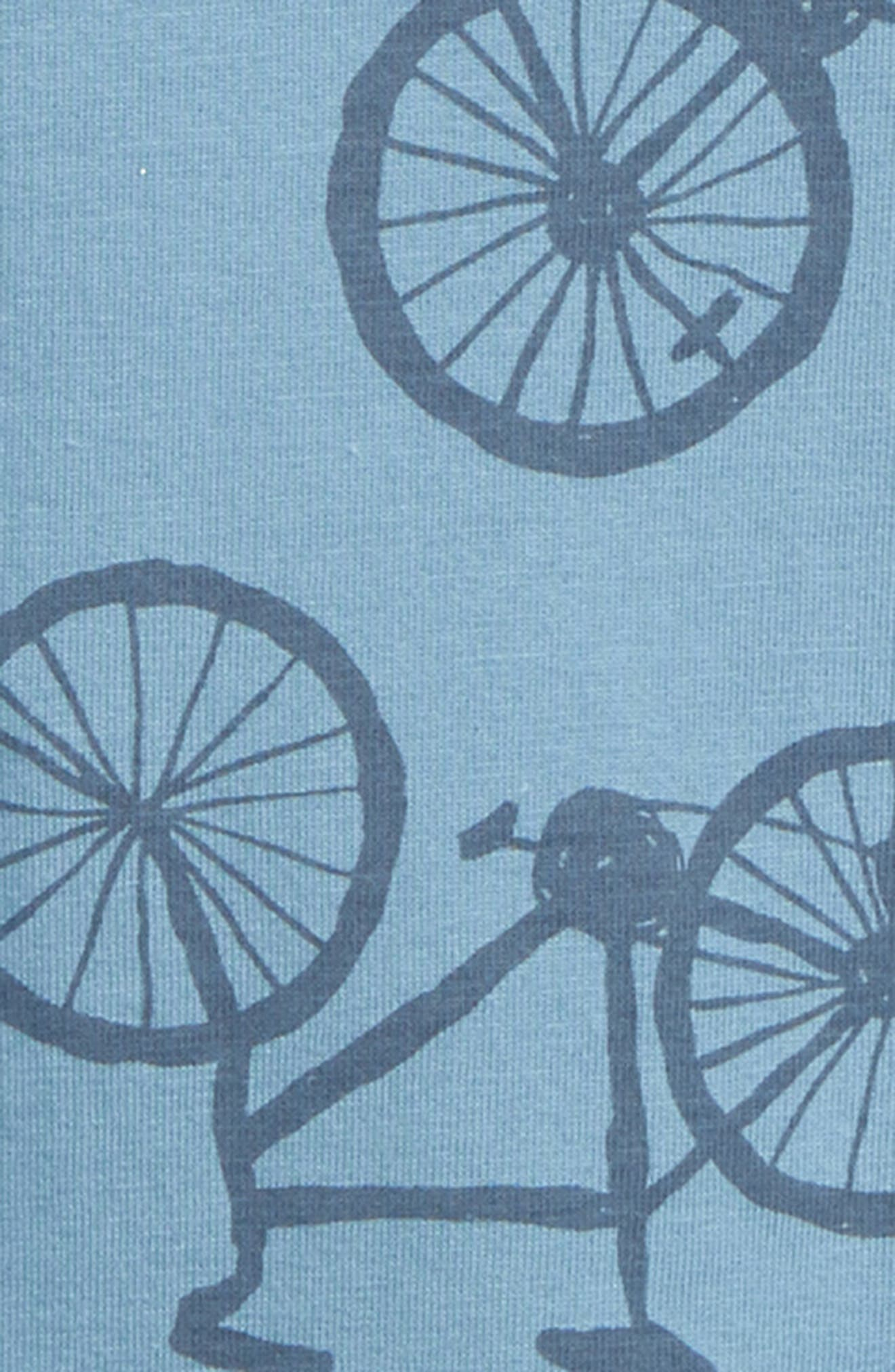 TEA COLLECTION, Bicycle Romper, Alternate thumbnail 2, color, PEDAL POWER