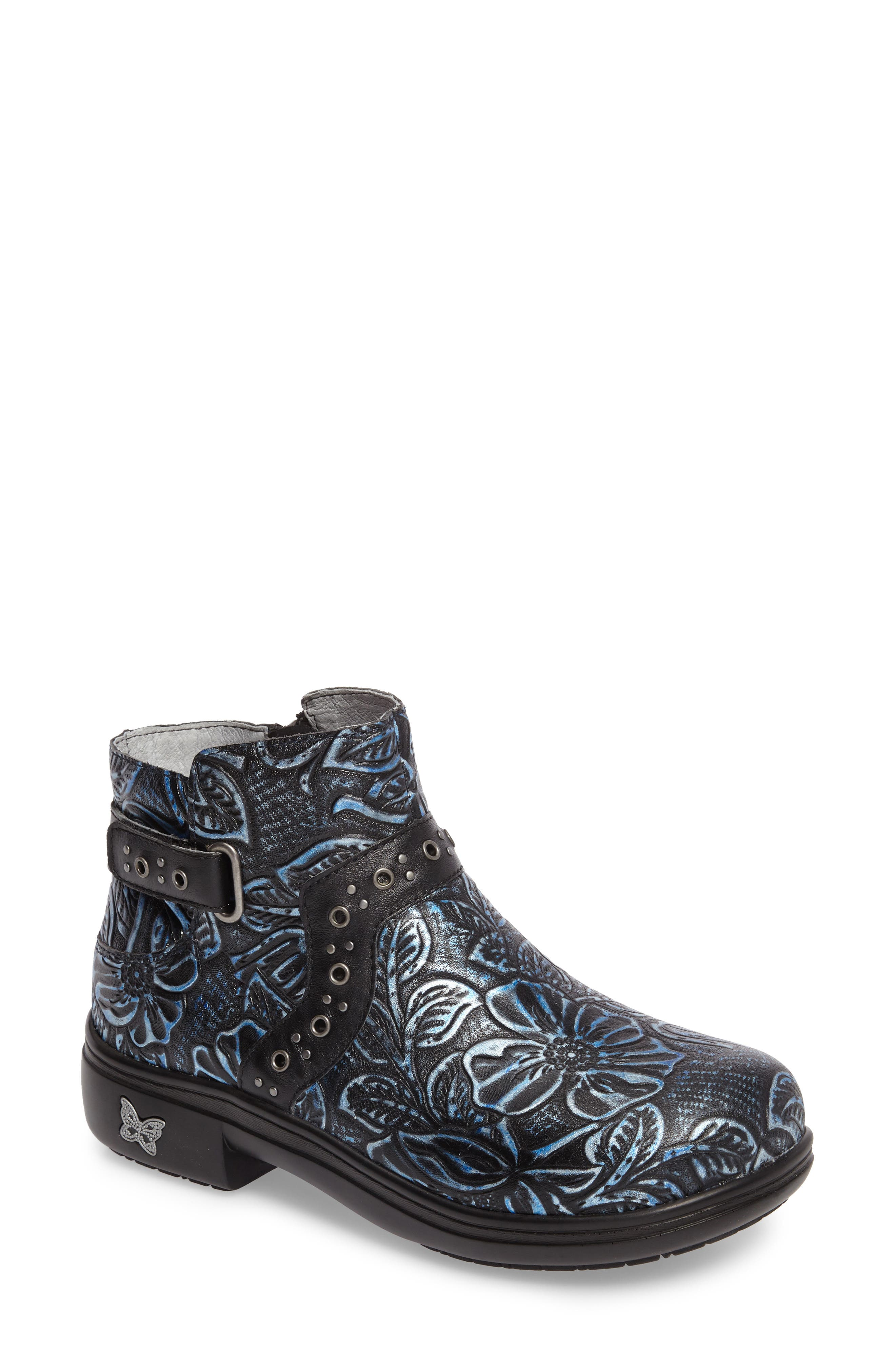 ALEGRIA Zoey Ankle Boot, Main, color, BLUE ROMANCE LEATHER
