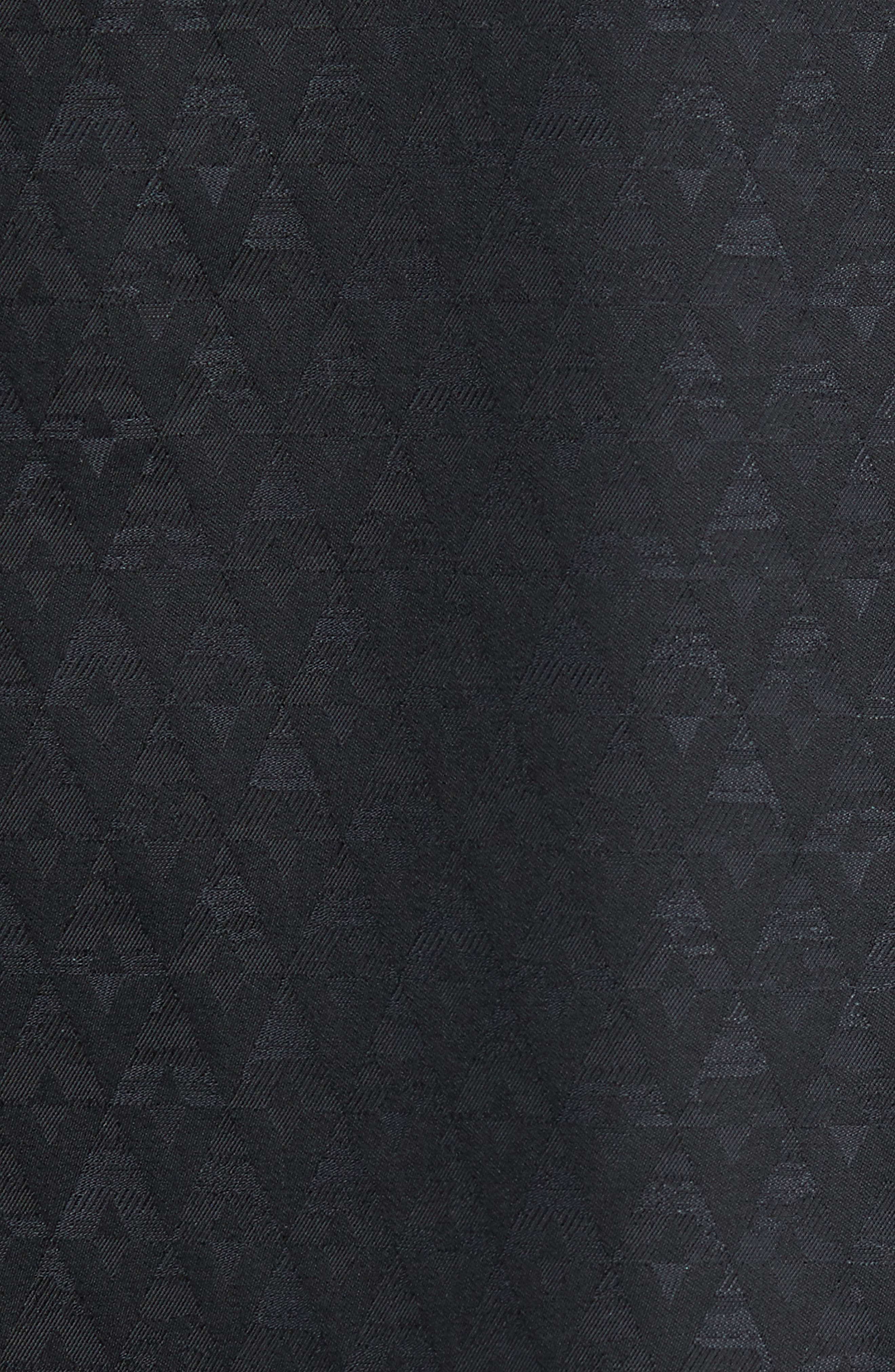 ROBERT GRAHAM, Classic Fit Stretch Geometric Sport Shirt, Alternate thumbnail 5, color, BLACK