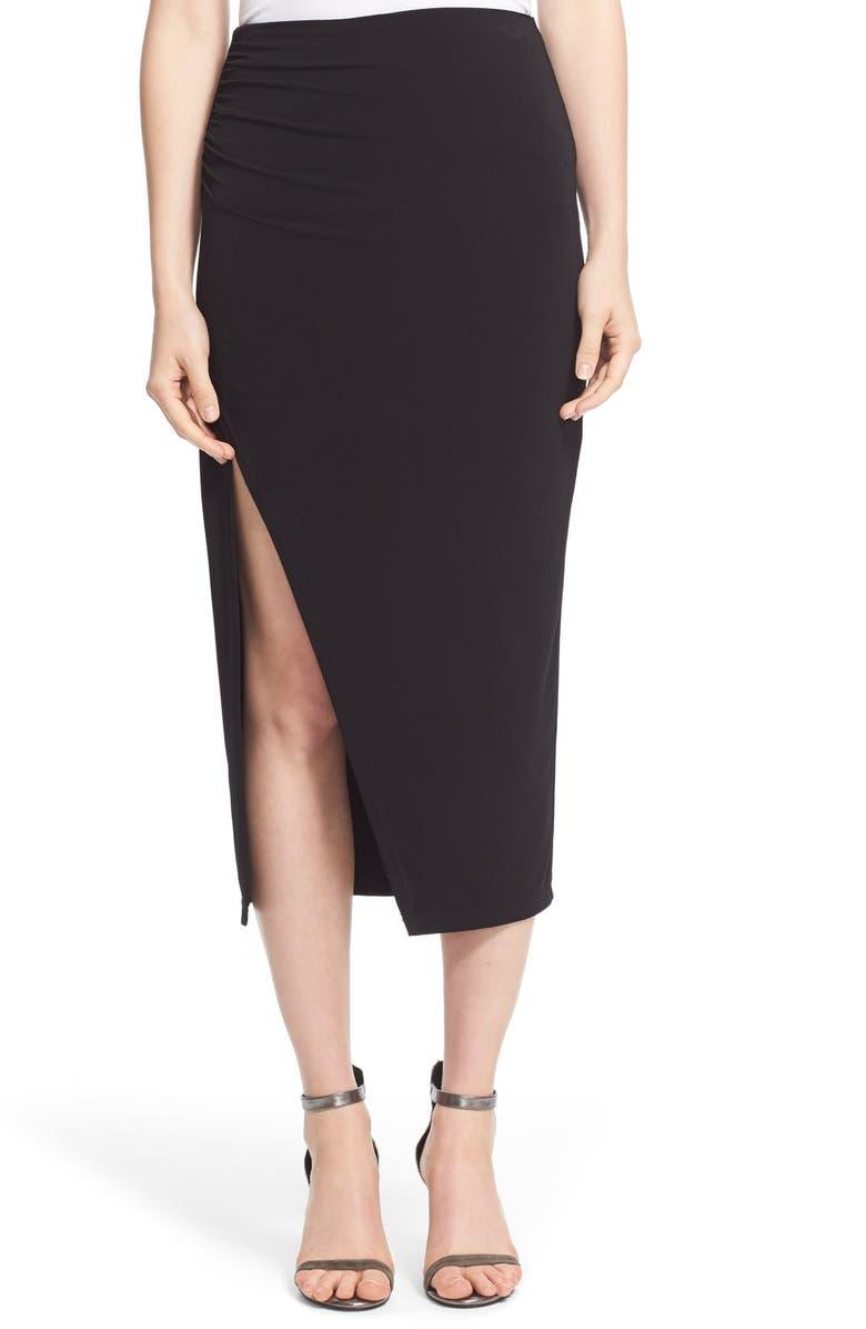 d15c4b4367 ALICE + OLIVIA 'Ann' Ruched Midi Skirt, Main, color, ...