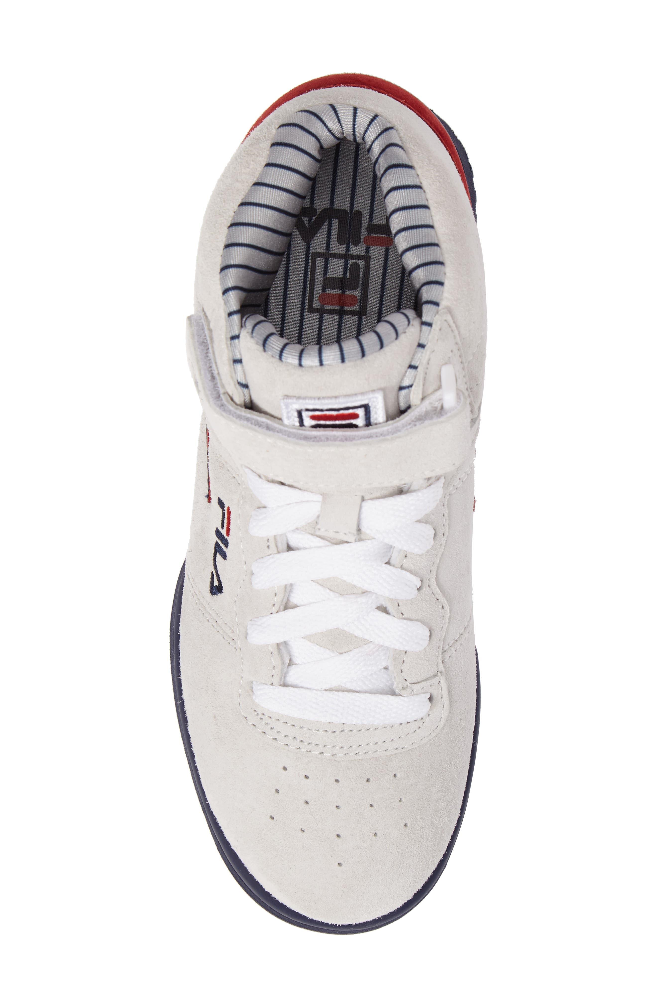 FILA, F-13 Mid Pinstripe Sneaker, Alternate thumbnail 5, color, 150