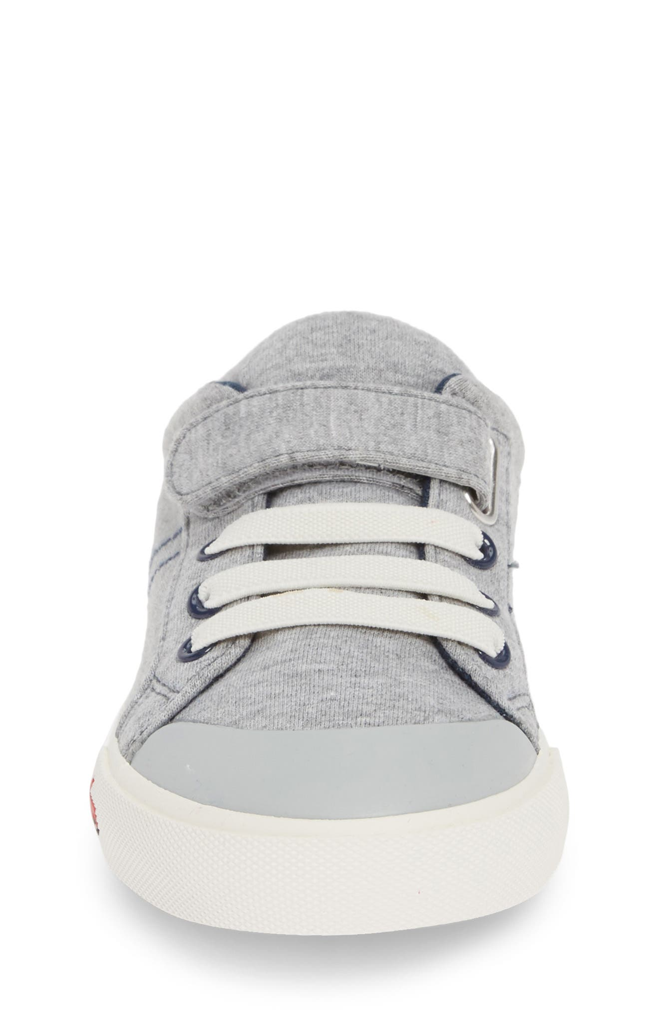 SEE KAI RUN, 'Tanner' Sneaker, Alternate thumbnail 4, color, GRAY/ BLUE JERSEY
