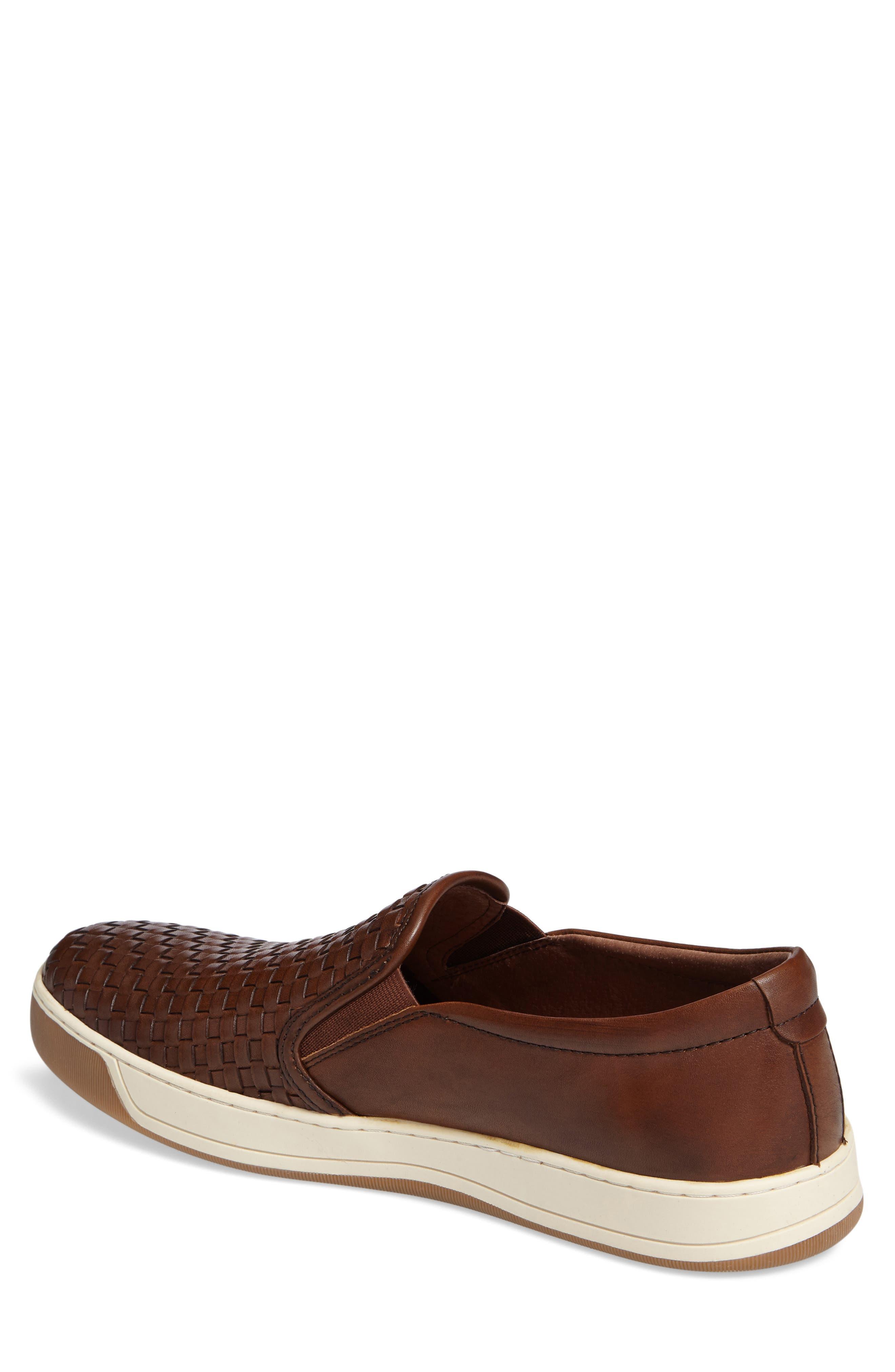J&M 1850, Allister Slip-On Sneaker, Alternate thumbnail 2, color, TAN LEATHER