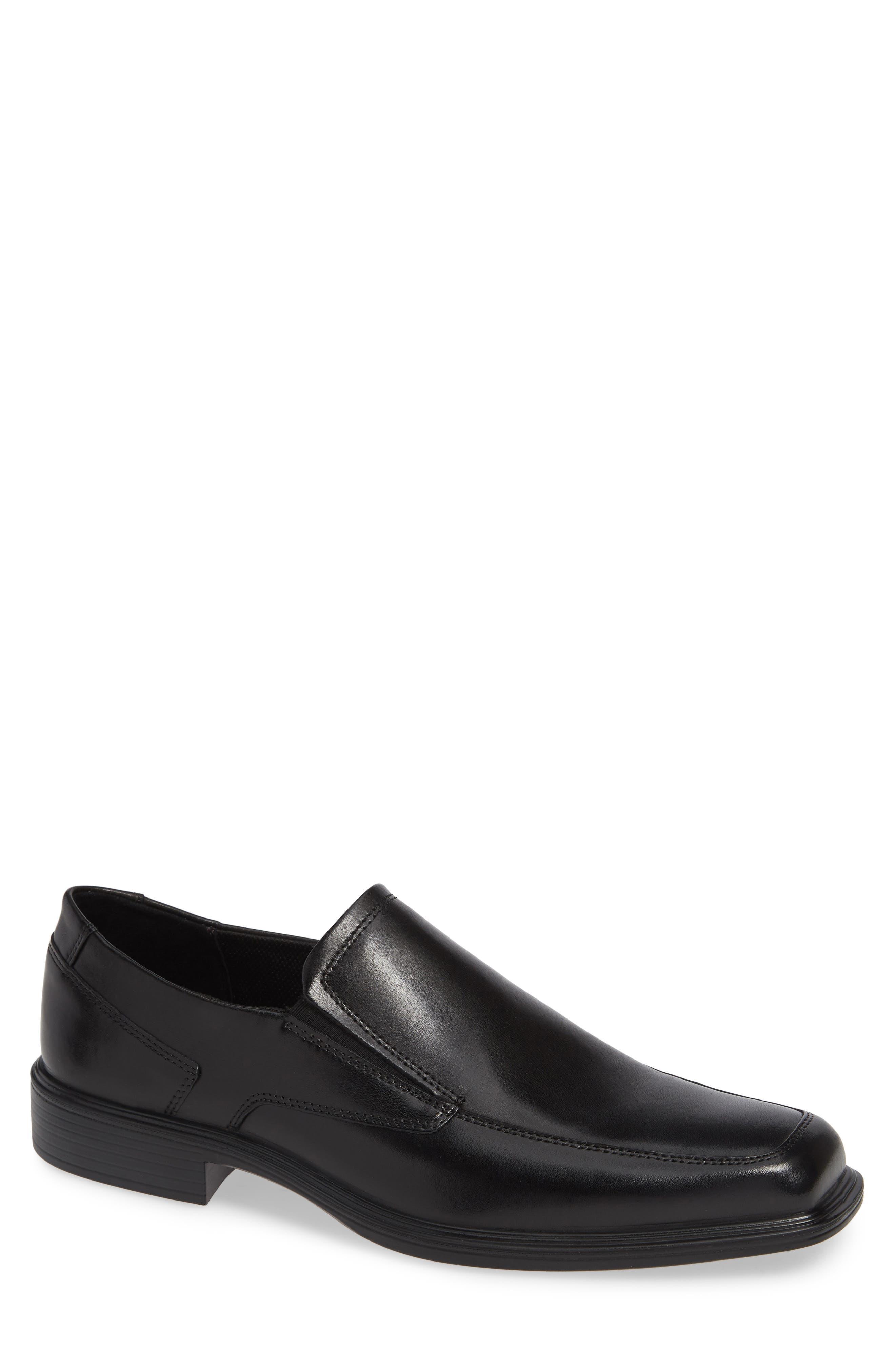 ECCO Minneapolis Venetian Loafer, Main, color, BLACK/BLACK LEATHER