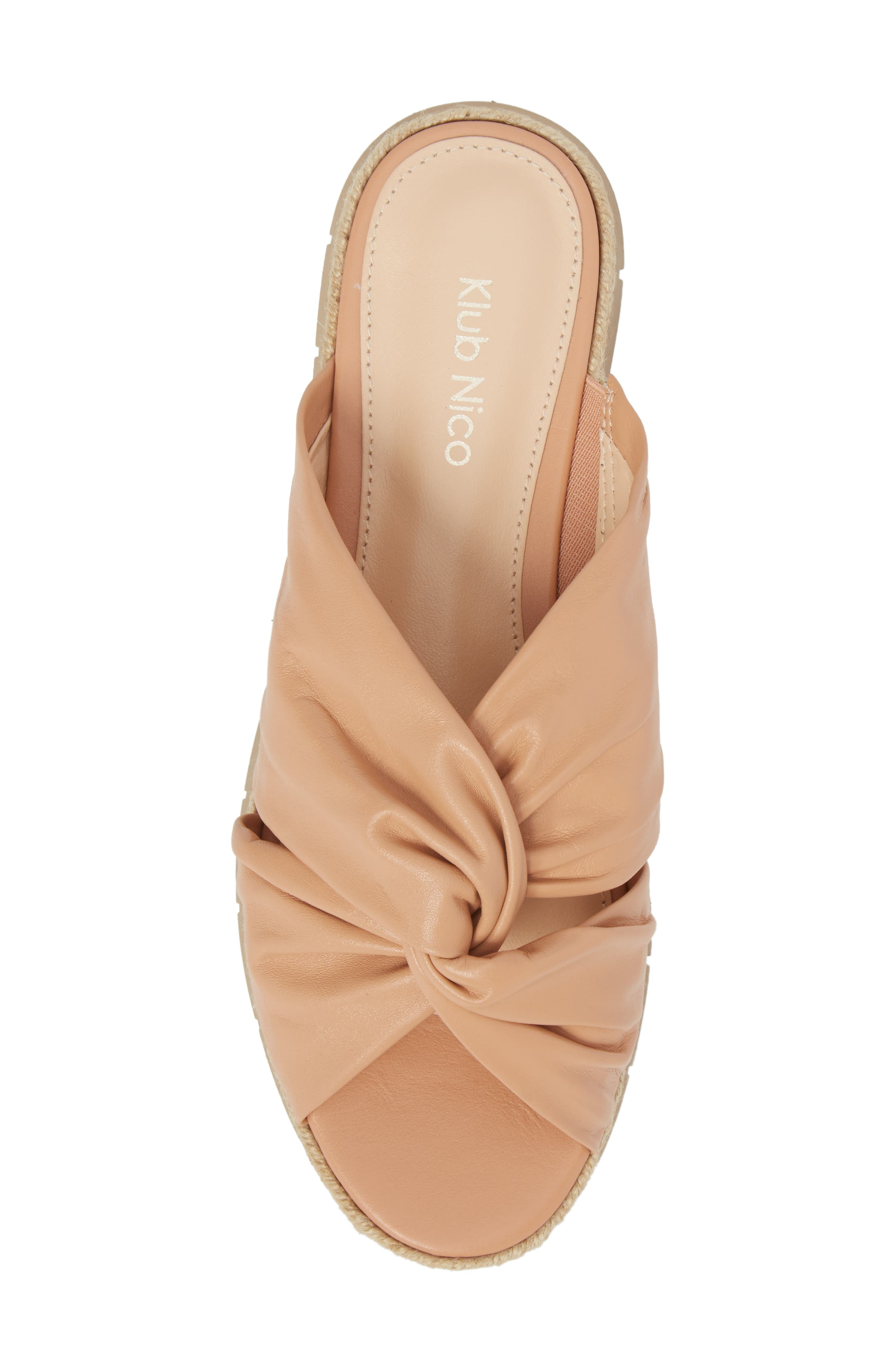 KLUB NICO, Charlie Slide Sandal, Alternate thumbnail 5, color, PEACH LEATHER