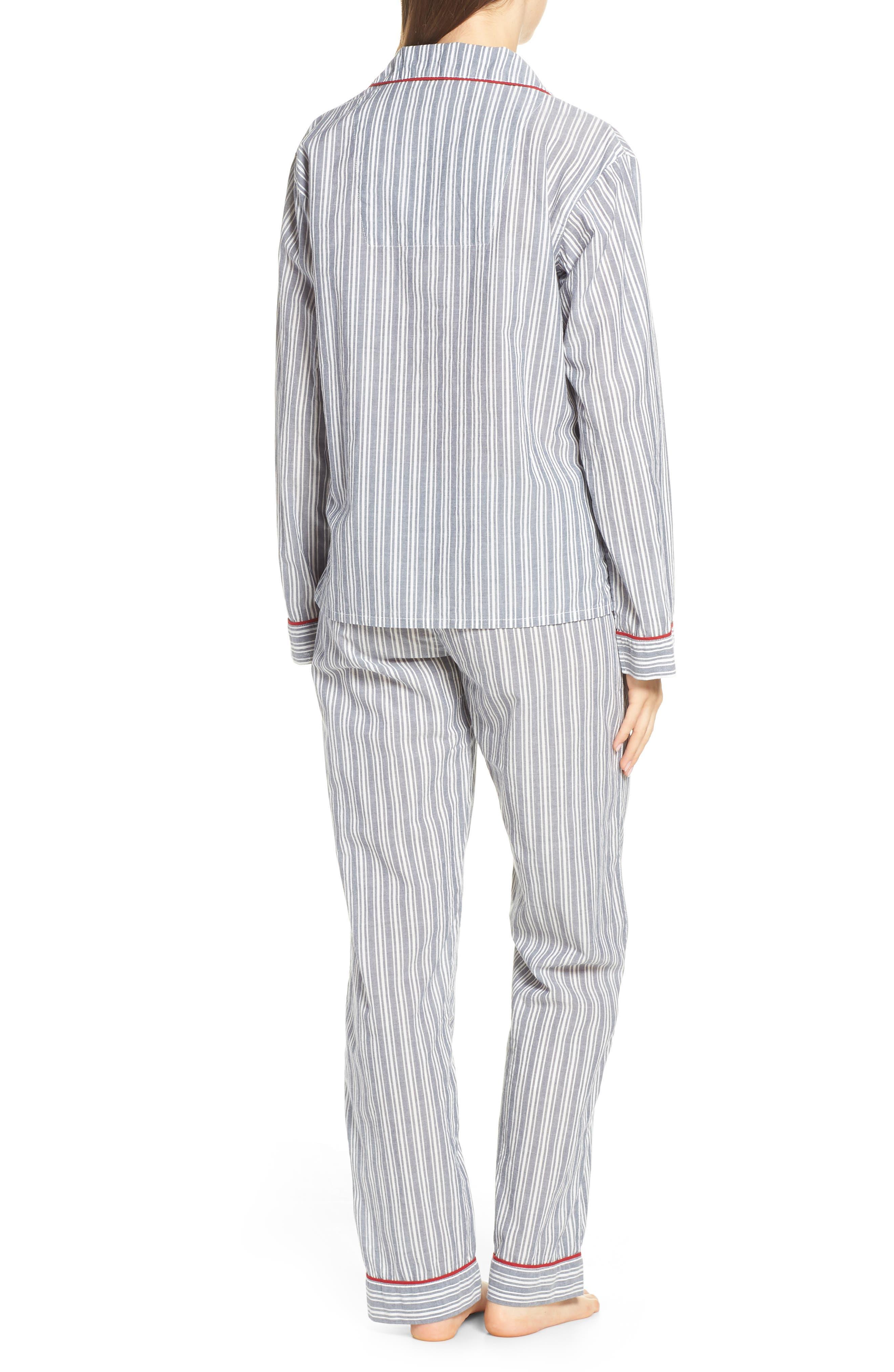 PJ SALVAGE, Mon Cheri Pajamas, Alternate thumbnail 2, color, DENIM