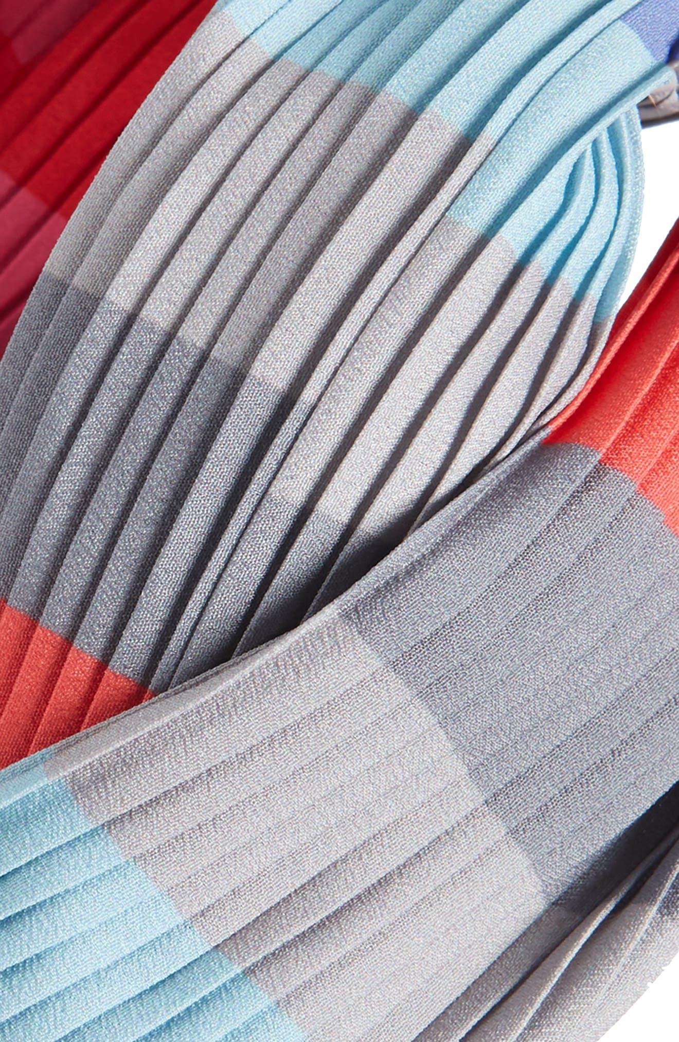 CARA, Rainbow Twist Pleated Head Wrap, Alternate thumbnail 2, color, PINK MULTI