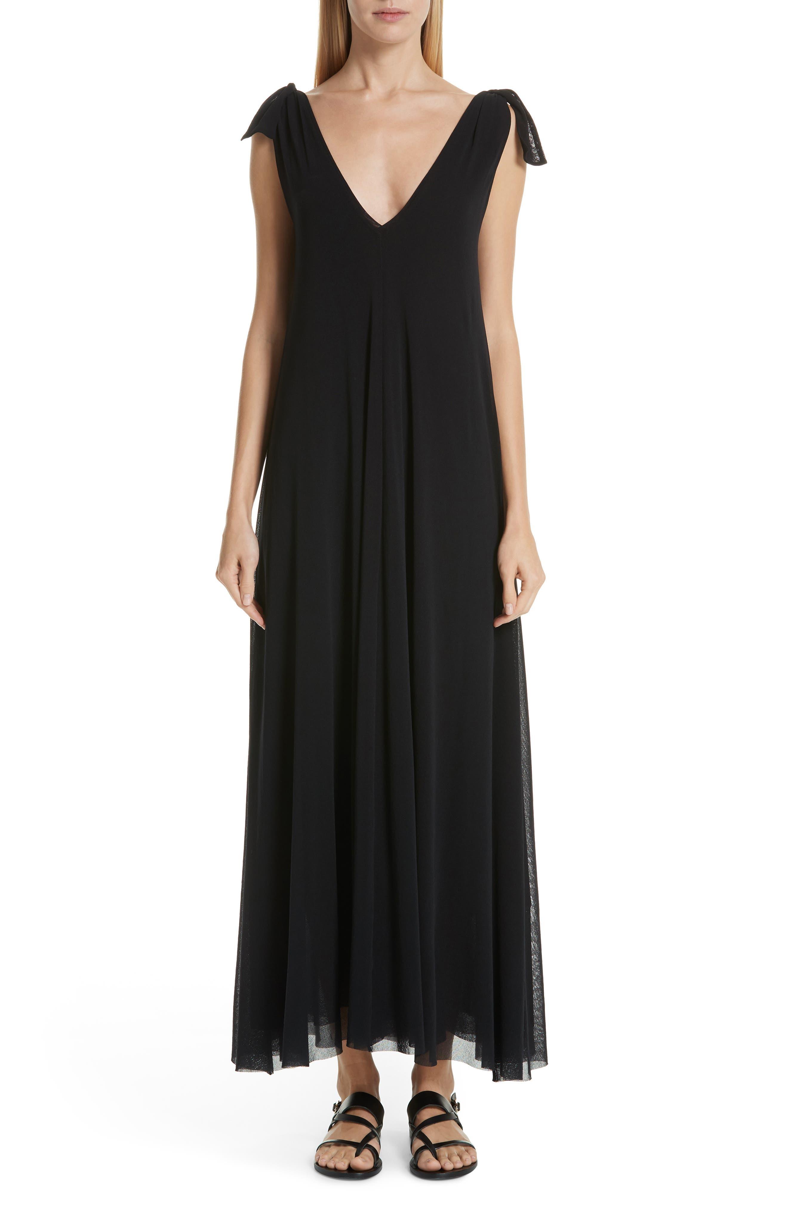 Fuzzi Tulle Maxi Dress, Black