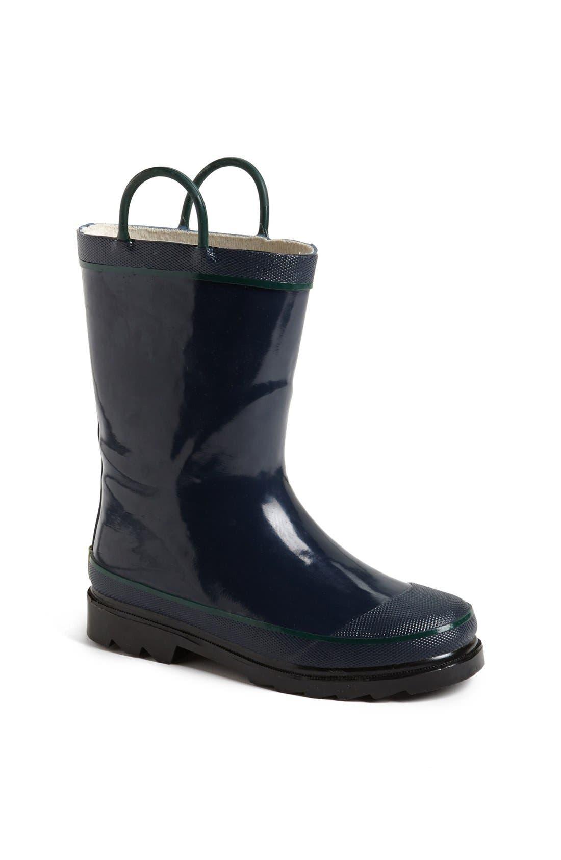 WESTERN CHIEF, Firechief 2 Waterproof Rain Boot, Main thumbnail 1, color, NAVY
