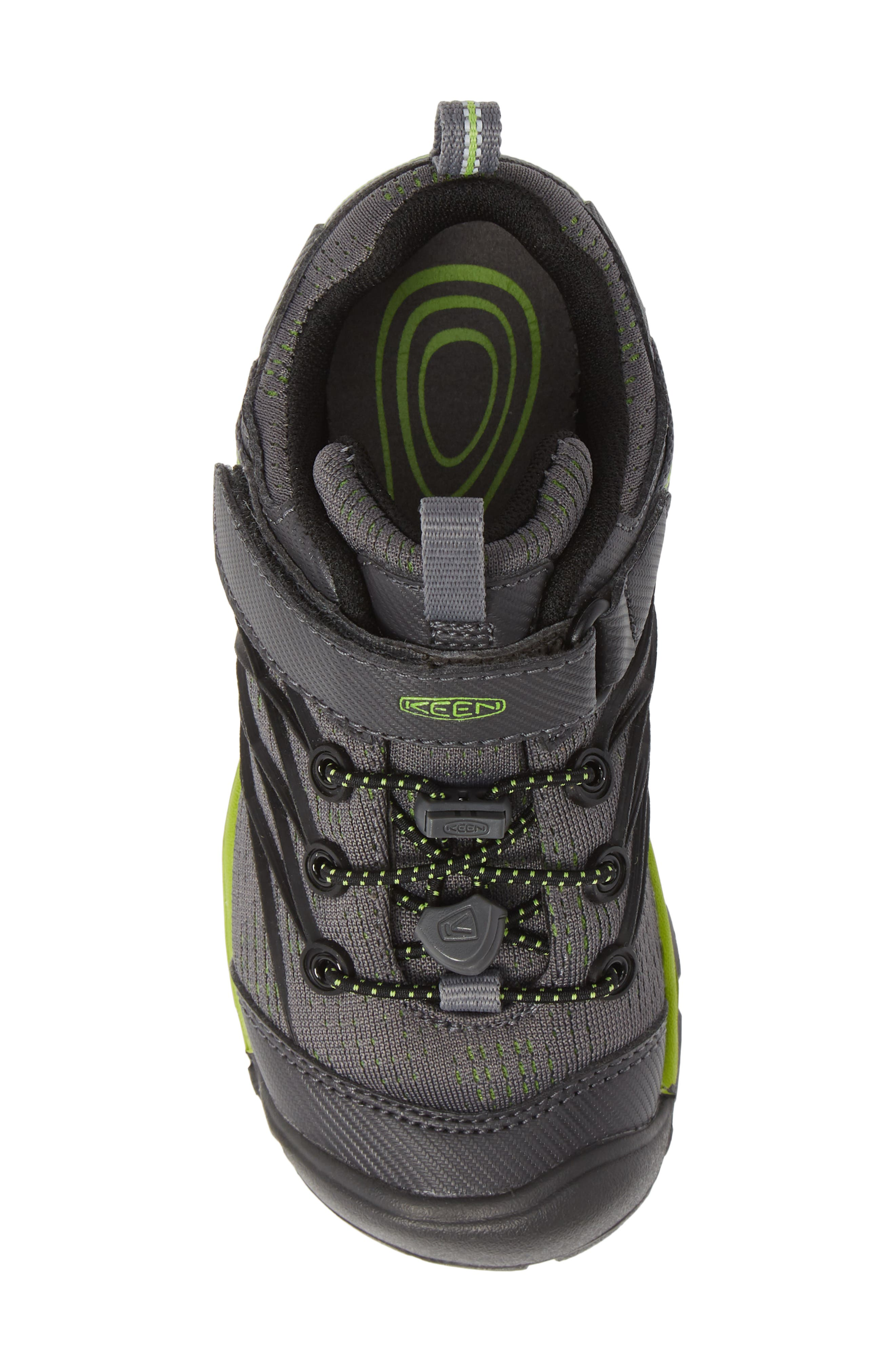 KEEN, 'Chandler CNX' Water Repellent Sneaker, Alternate thumbnail 5, color, MAGNET/ GREENERY