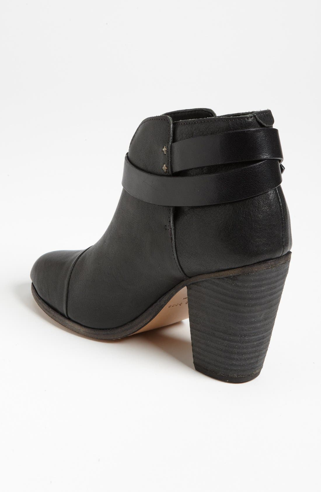 RAG & BONE, 'Harrow' Leather Boot, Alternate thumbnail 7, color, BLACK