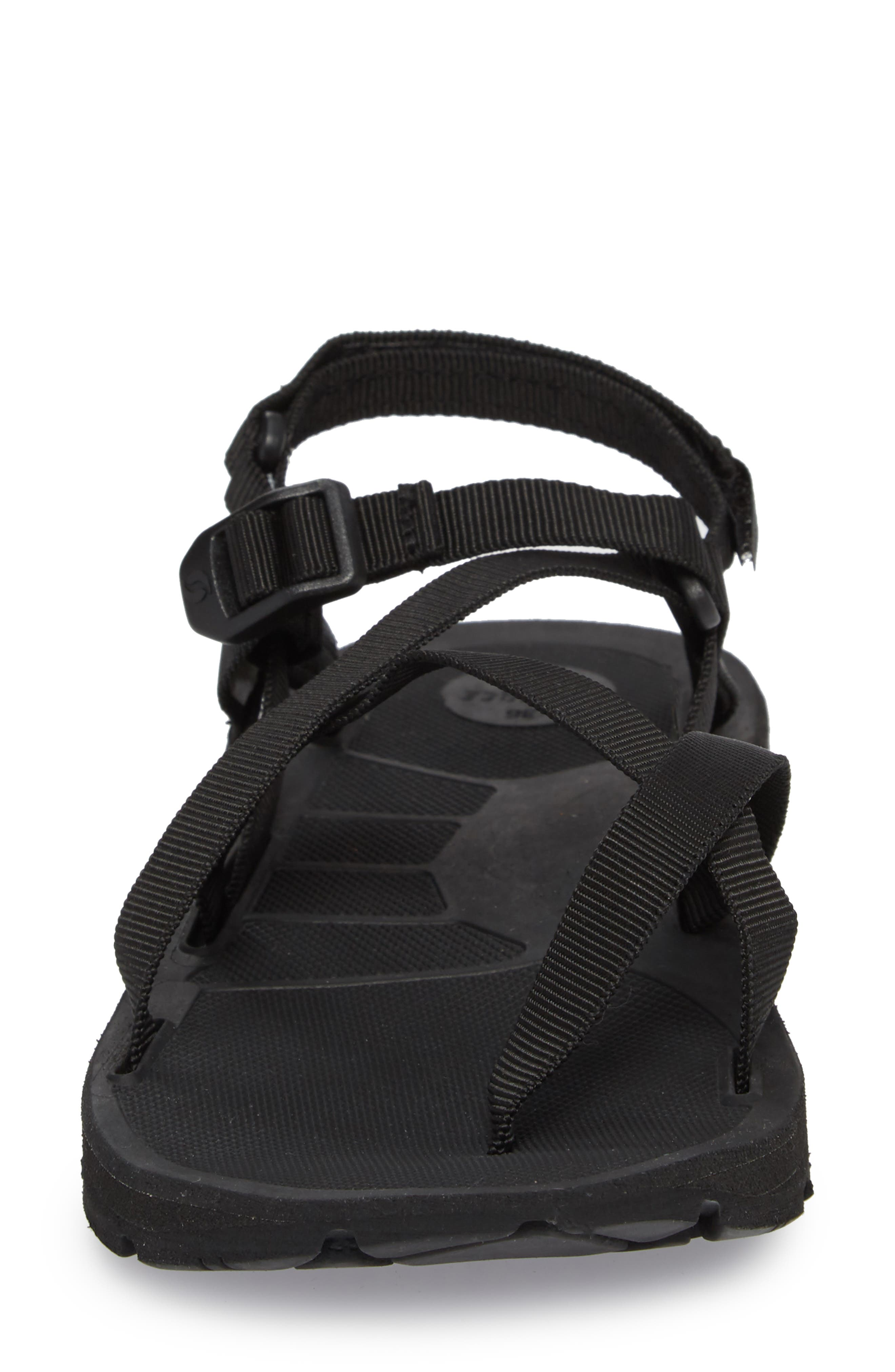 NAOT, Shore Sandal, Alternate thumbnail 4, color, BLACK FABRIC