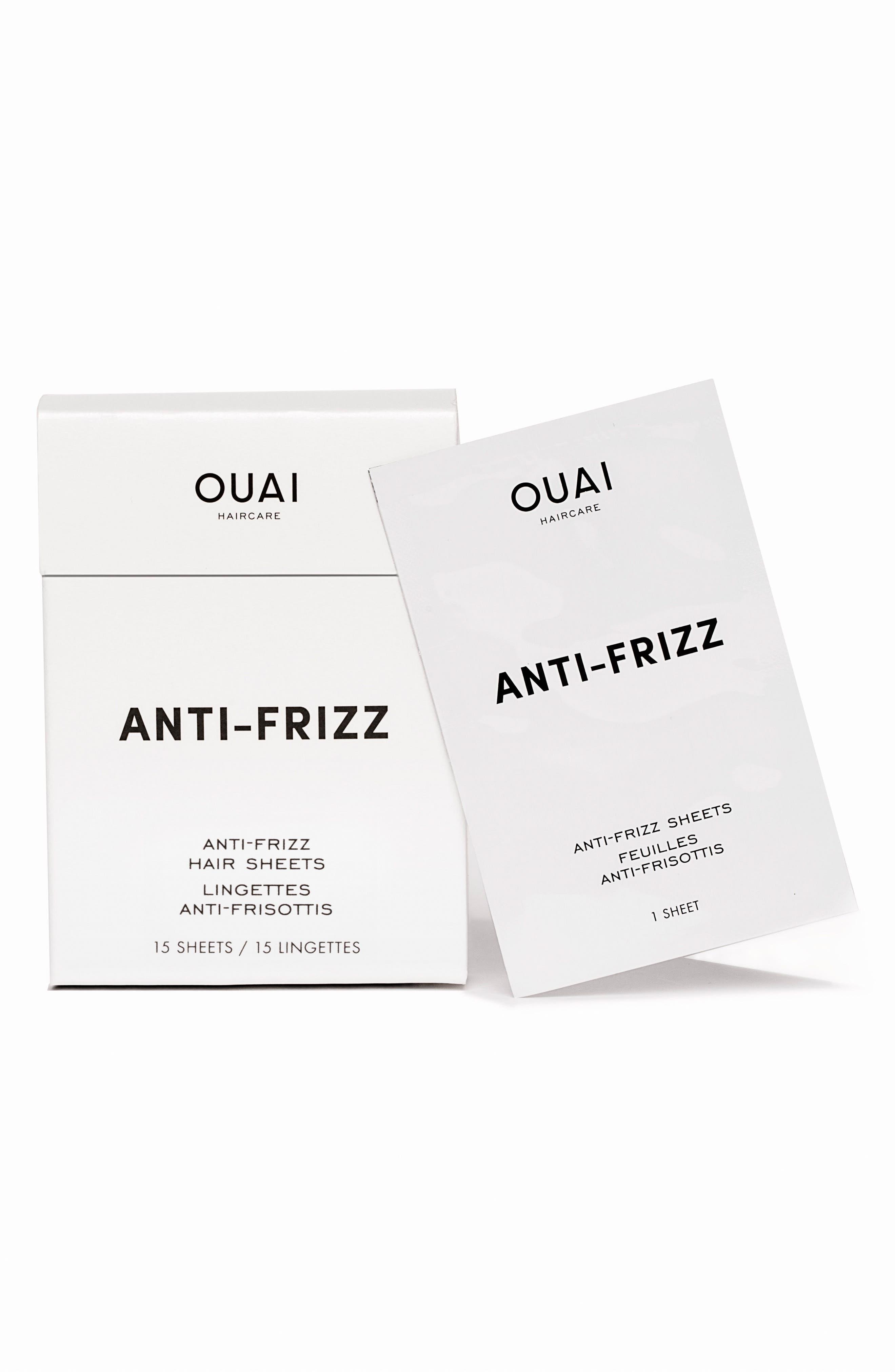 OUAI, Anti-Frizz Smoothing Sheets, Main thumbnail 1, color, NO COLOR
