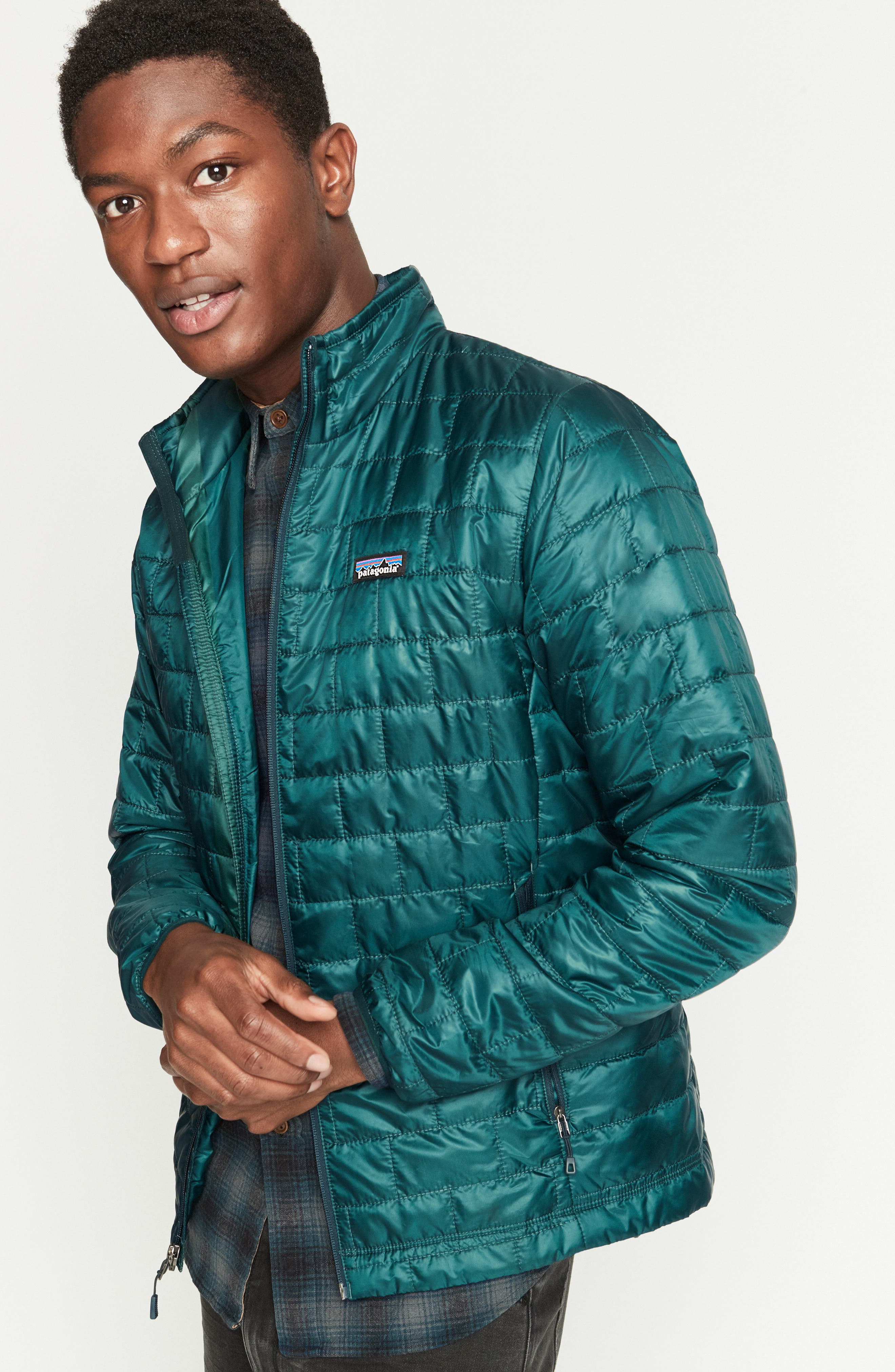 PATAGONIA, 'Nano Puff<sup>®</sup>' Water Resistant Jacket, Alternate thumbnail 10, color, BLACK