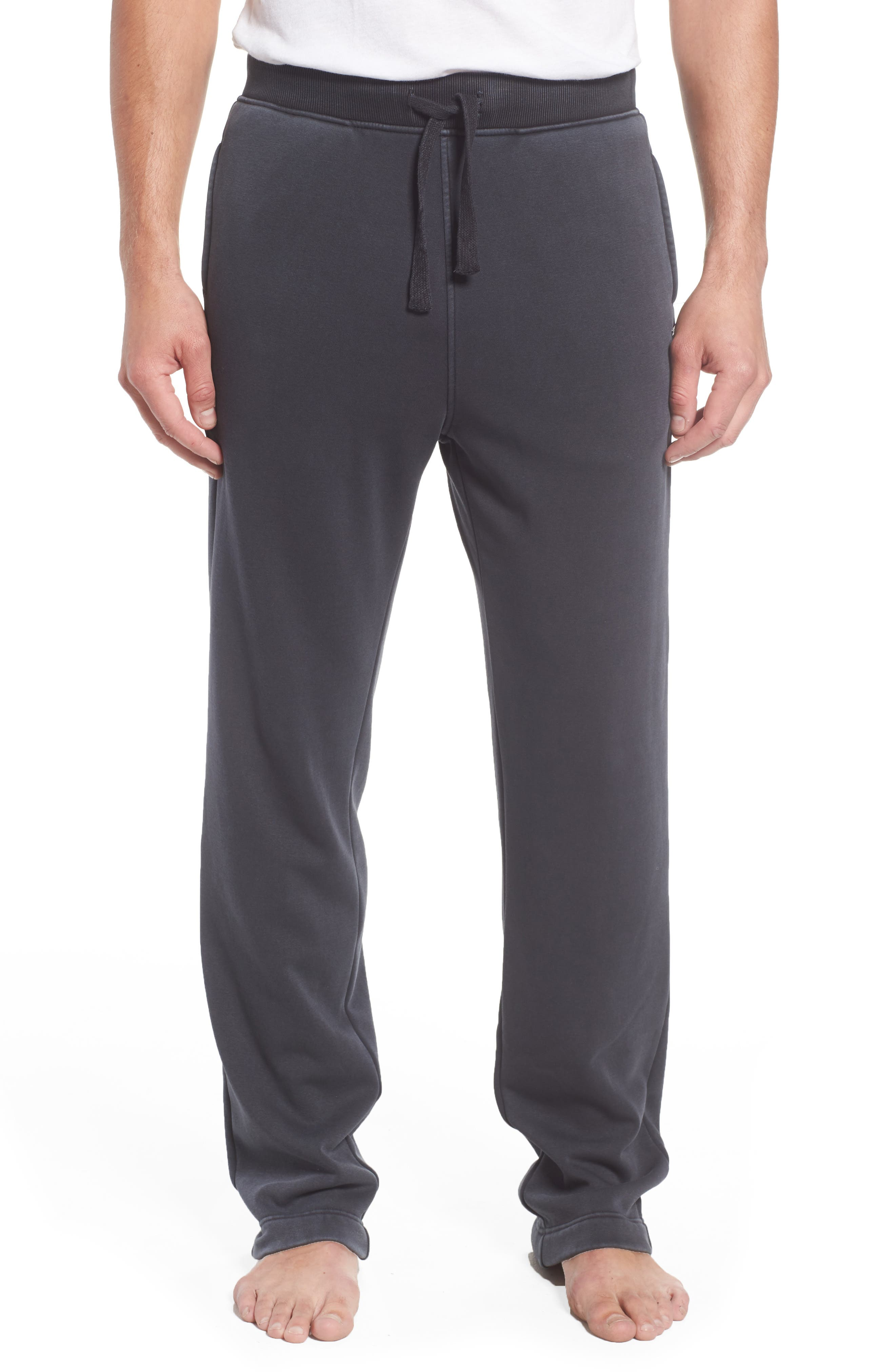 UGG<SUP>®</SUP> Wyatt Stretch Cotton Lounge Pants, Main, color, CHARCOAL