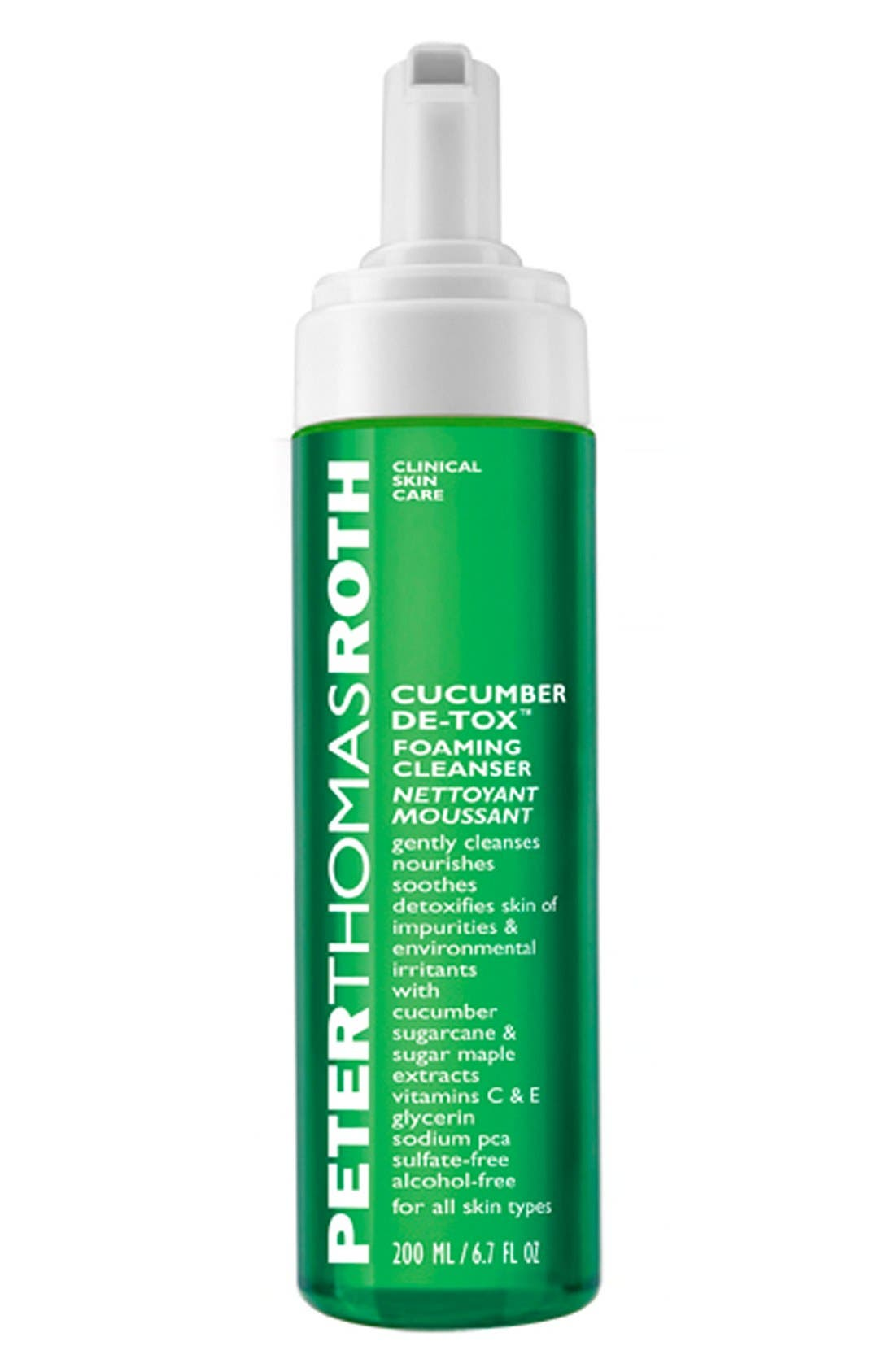 PETER THOMAS ROTH, Cucumber De-tox<sup>™</sup> Foaming Cleanser, Main thumbnail 1, color, 000