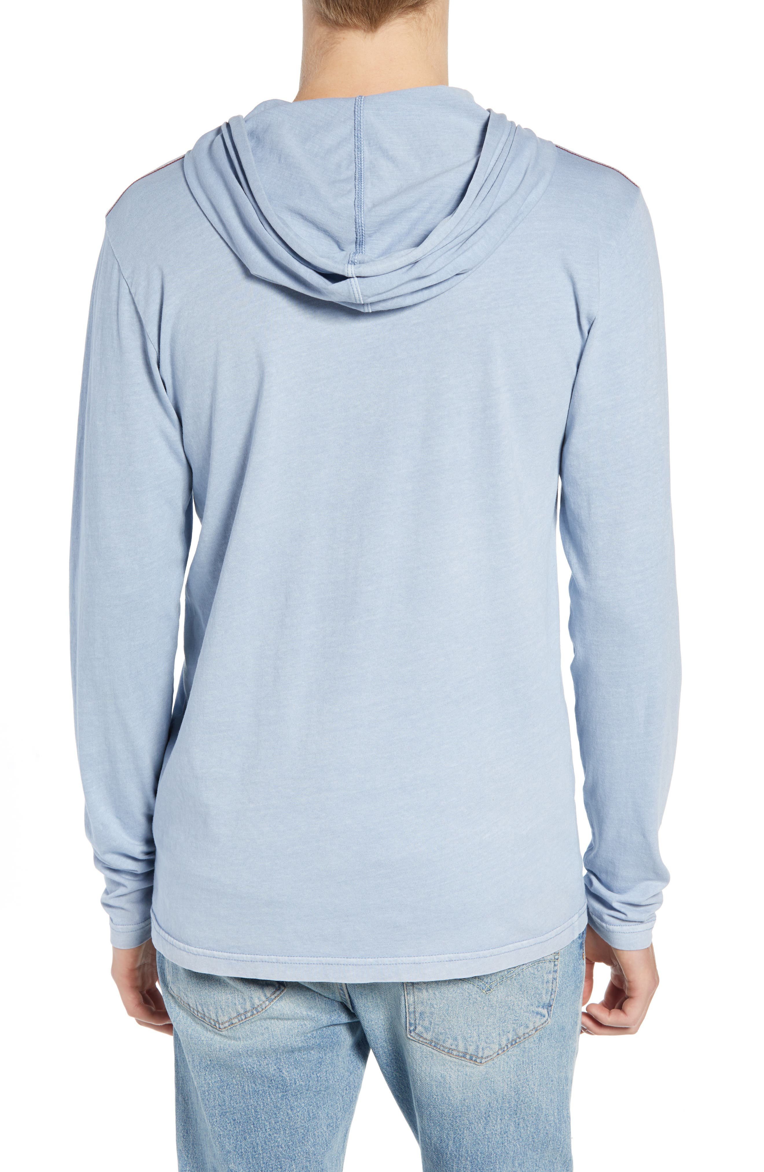 RVCA, PTC Cotton Hoodie, Alternate thumbnail 2, color, DUSTY BLUE