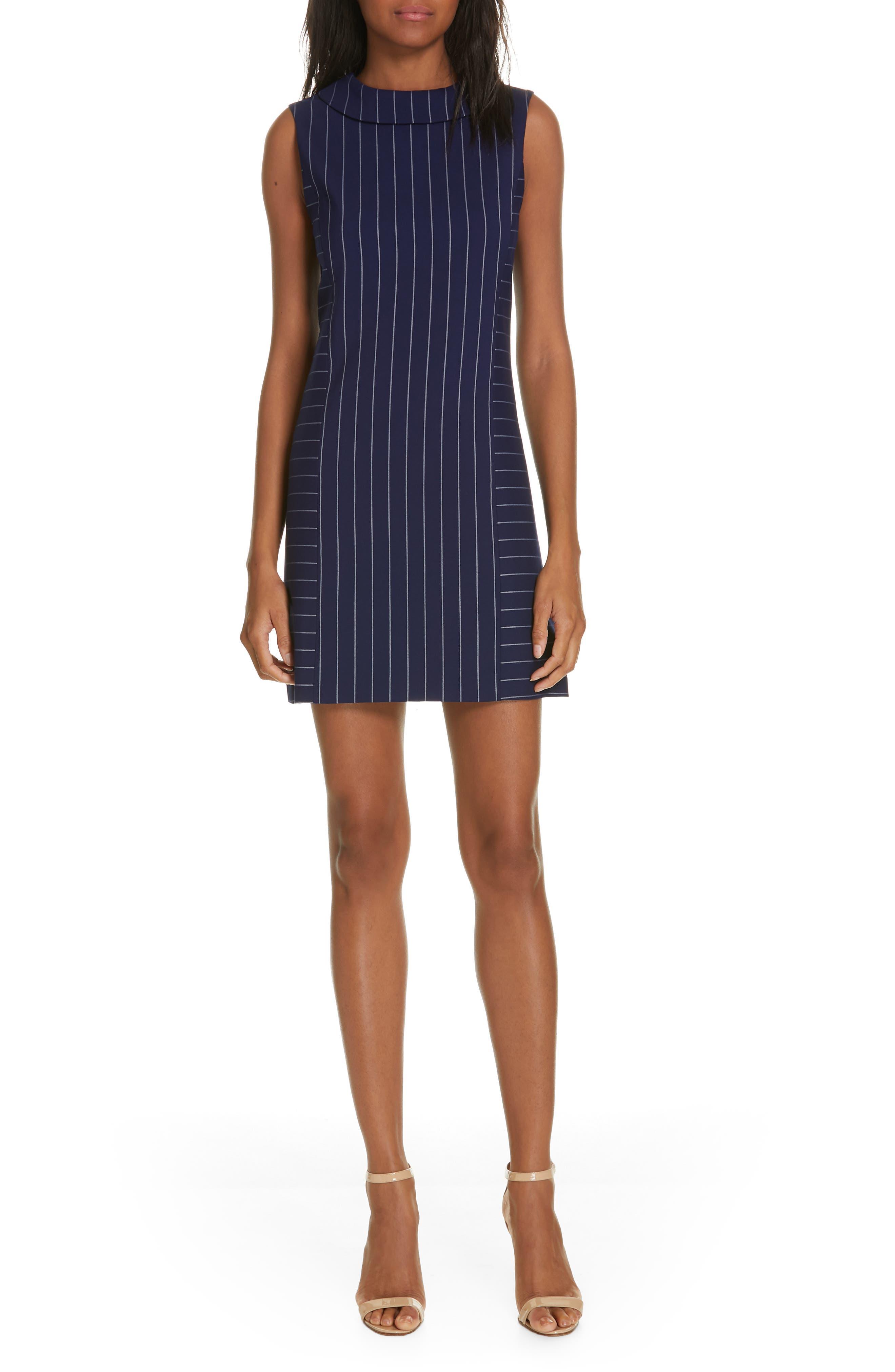 Alice + Olivia Corine Stripe Shift Dress, Blue