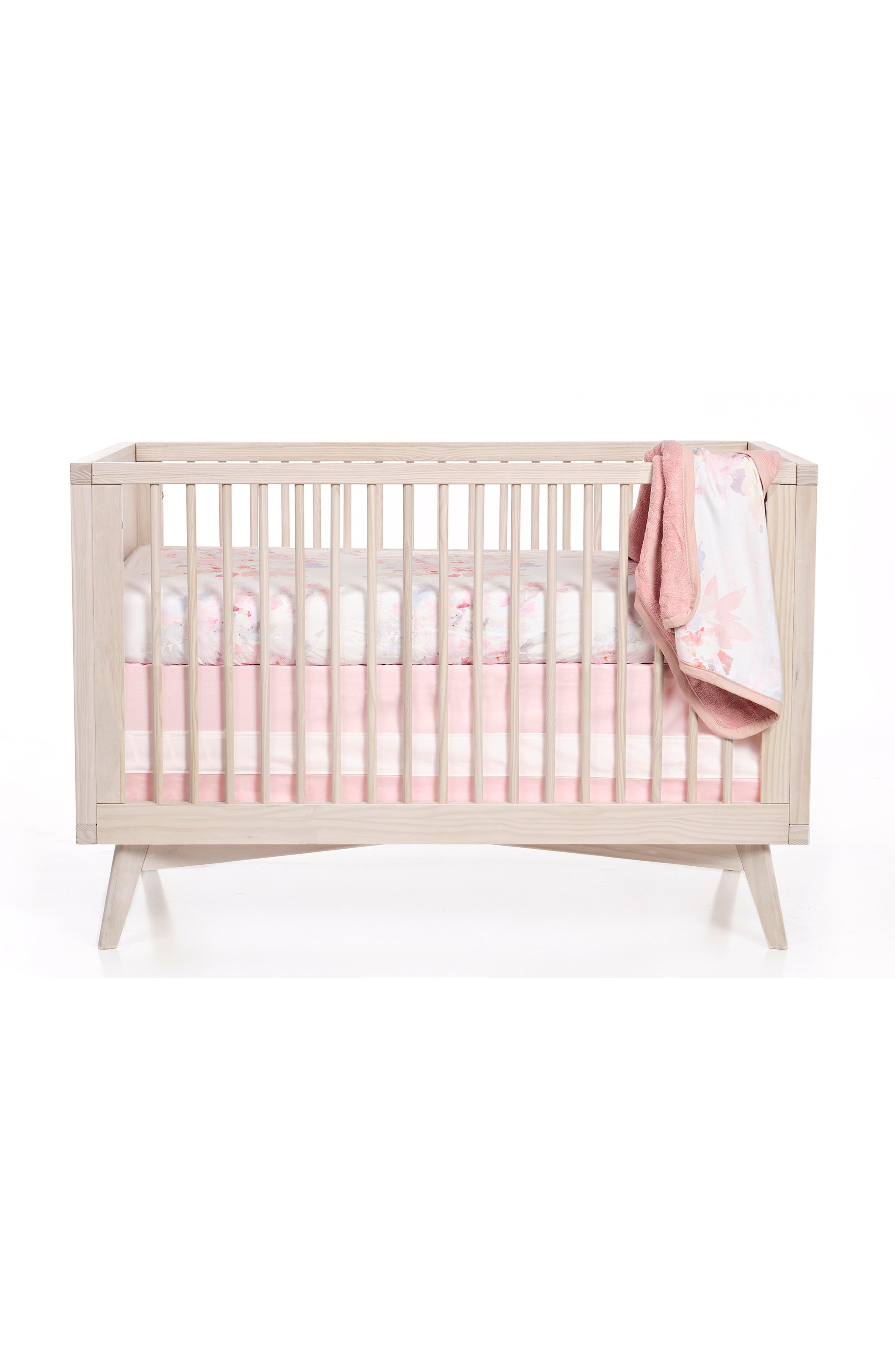 OILO, Prim Cuddle Blanket, Crib Skirt & Crib Sheet Set, Alternate thumbnail 6, color, PRIM
