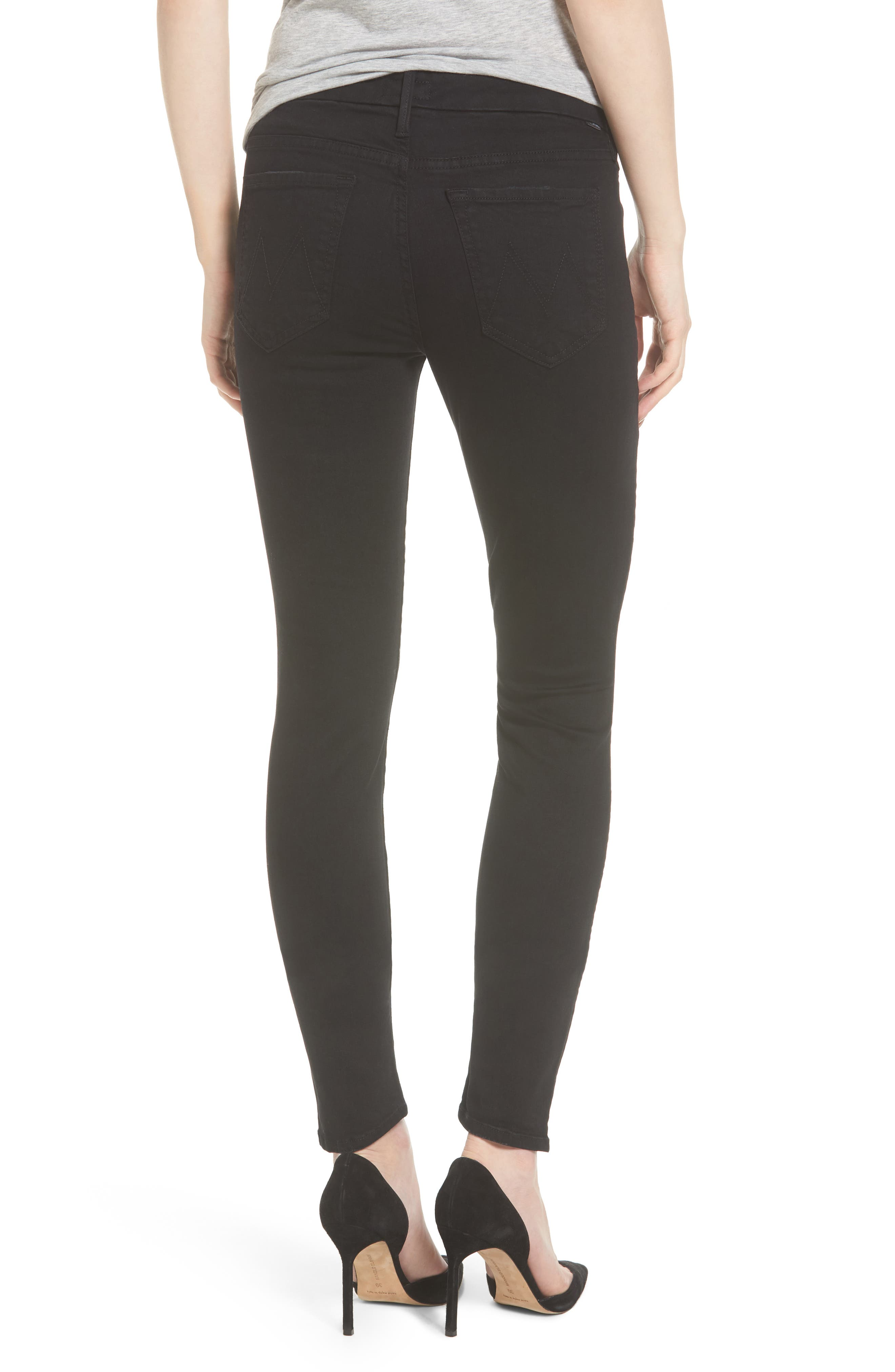 MOTHER, 'The Looker' Mid Rise Skinny Jeans, Alternate thumbnail 2, color, NOT GUILTY