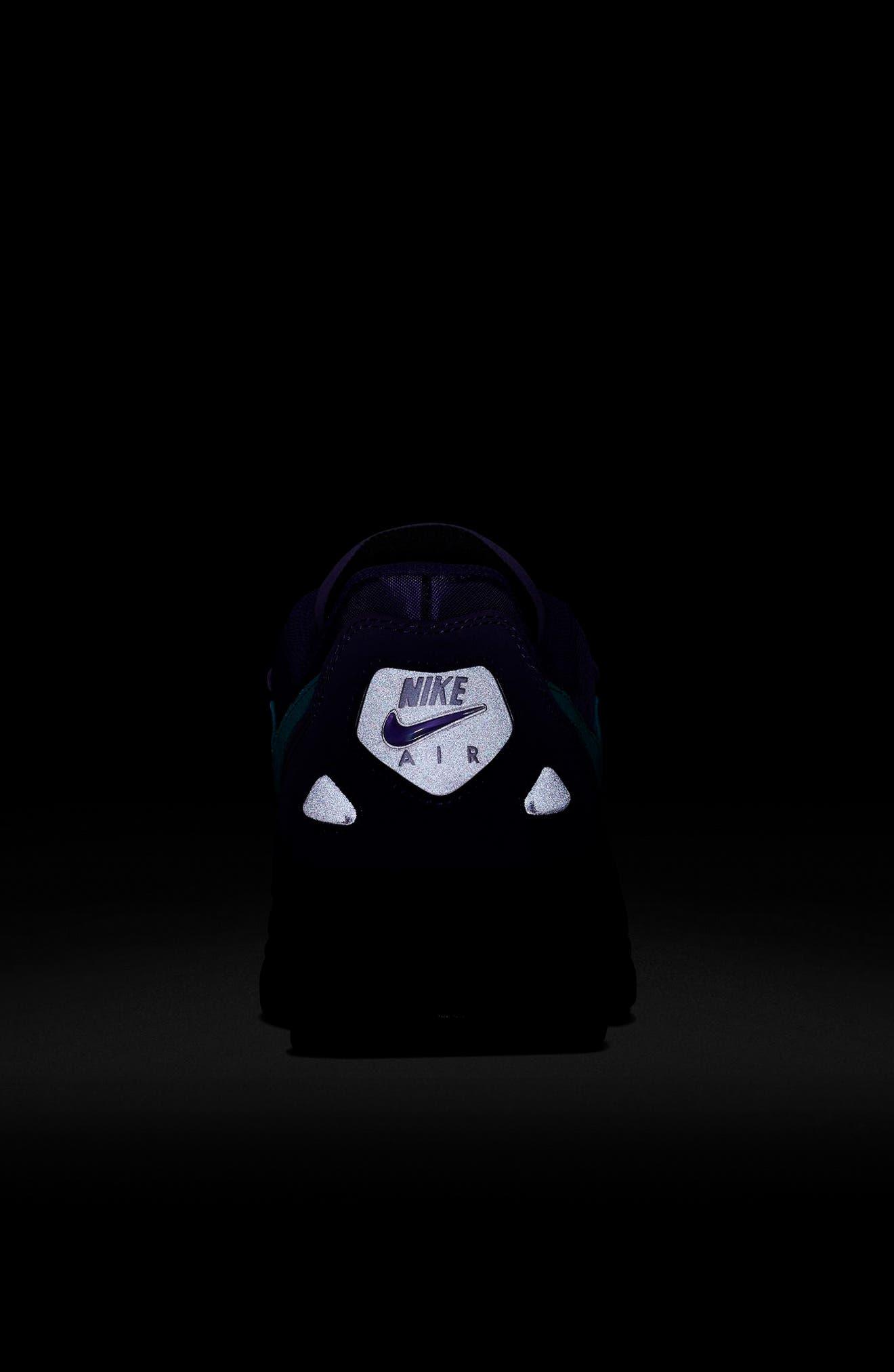 NIKE, Air Max2 Light Sneaker, Alternate thumbnail 8, color, PURPLE/ TEAL/ BLACK/ WHITE