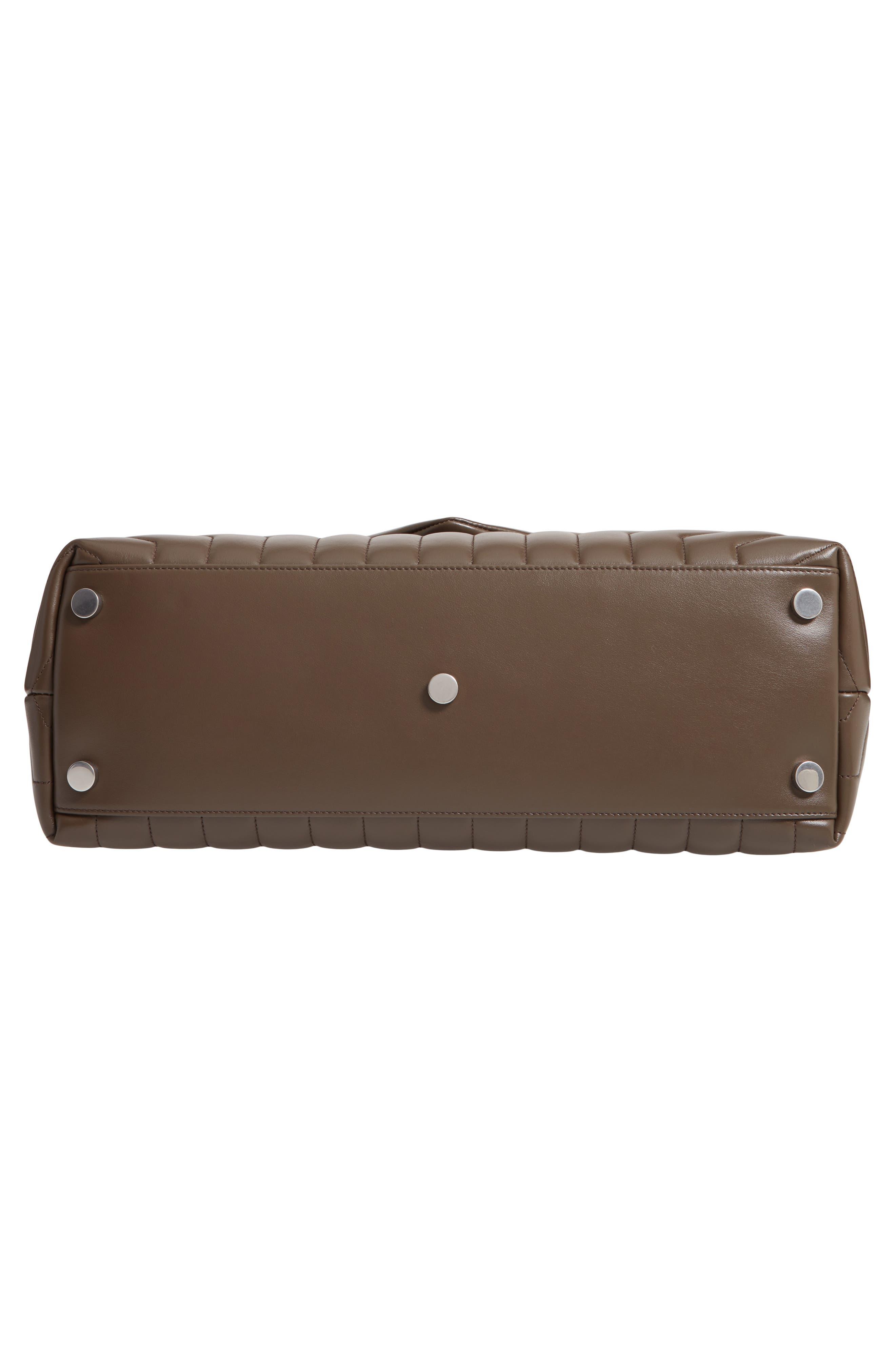 SAINT LAURENT, Large Loulou Matelassé Leather Shoulder Bag, Alternate thumbnail 6, color, FAGGIO/ FAGGIO