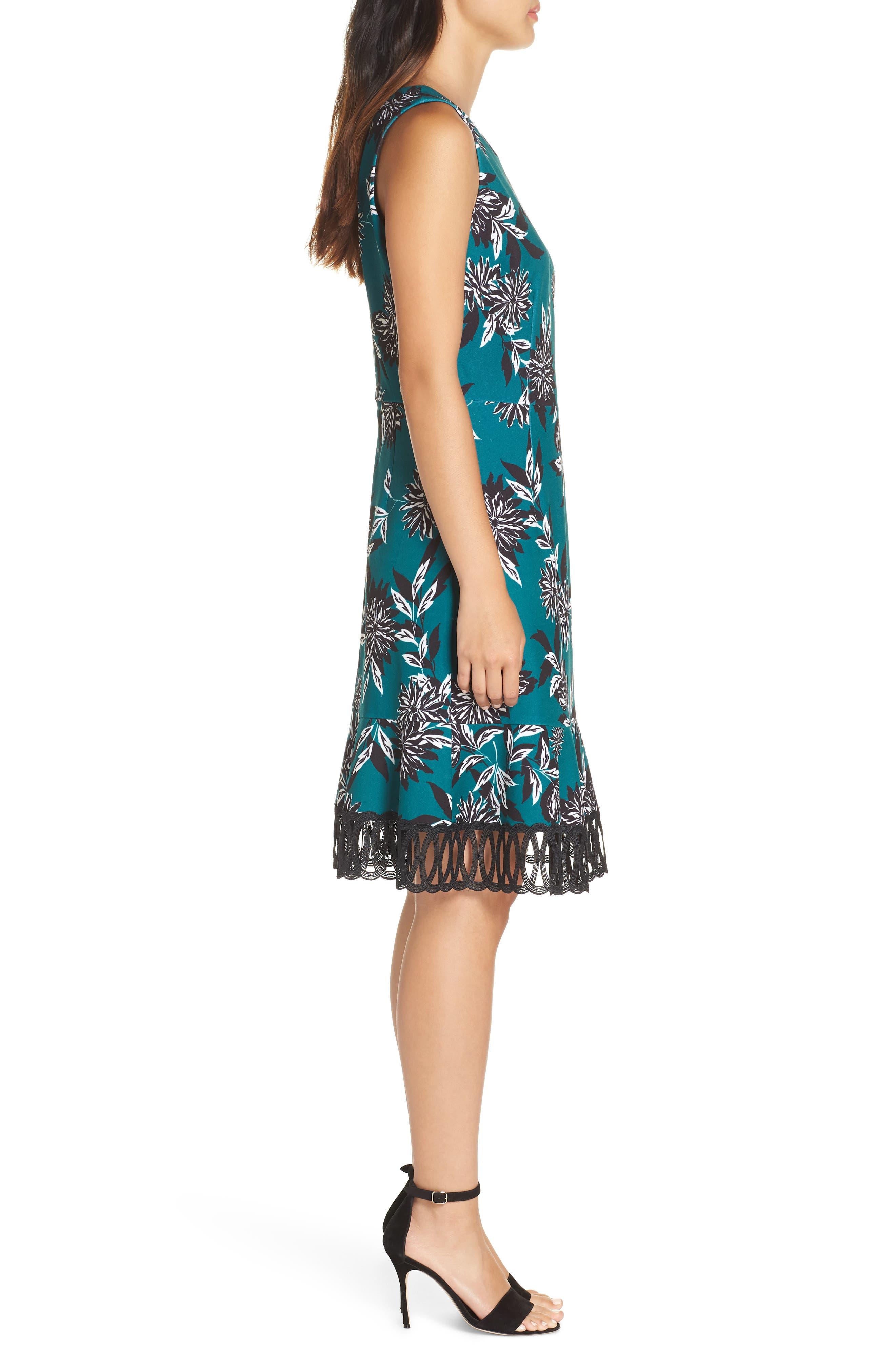 JULIA JORDAN, Crepe Scuba A-Line Dress, Alternate thumbnail 4, color, 300