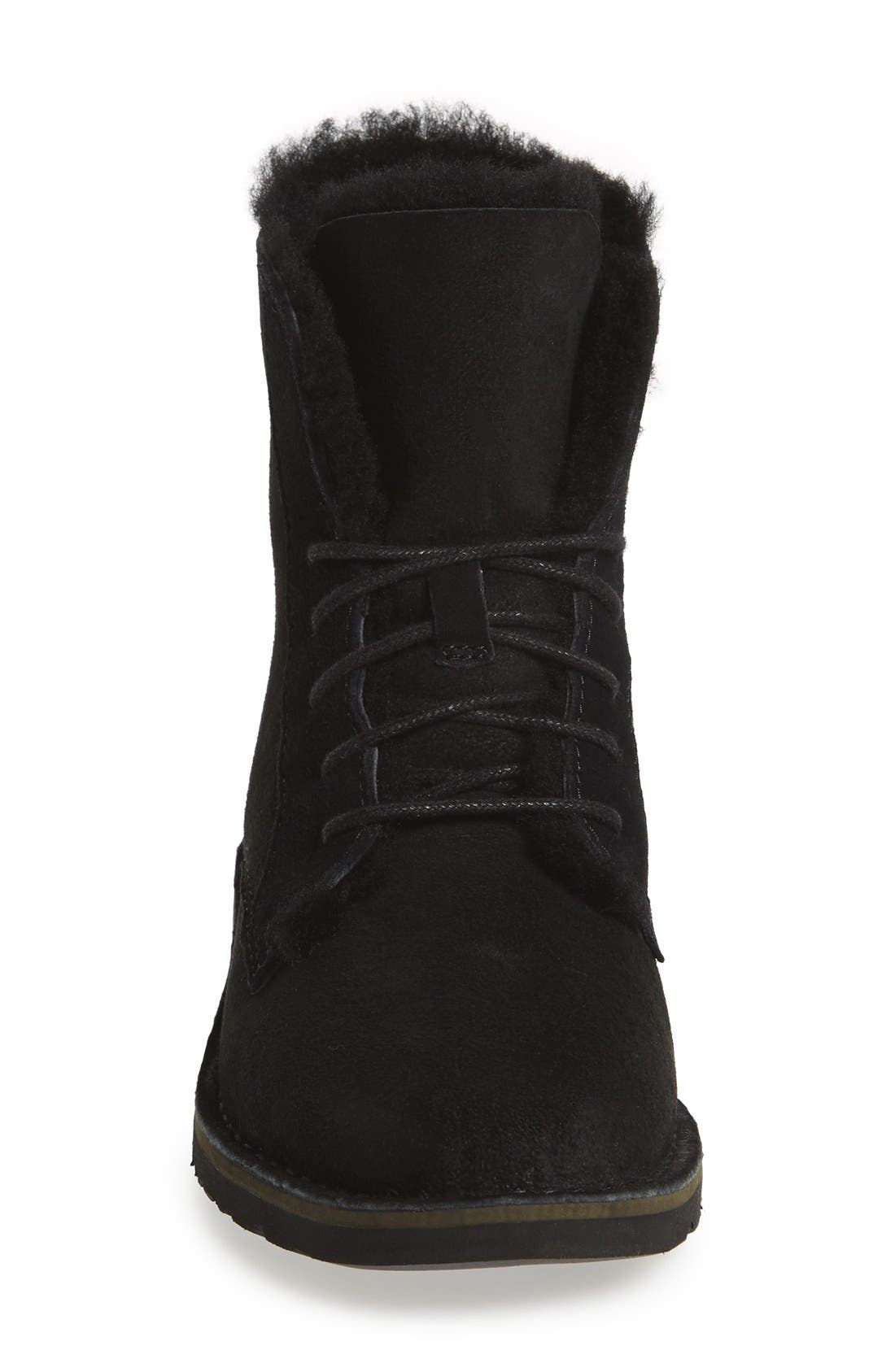 UGG<SUP>®</SUP>, Quincy Boot, Alternate thumbnail 2, color, BLACK SUEDE