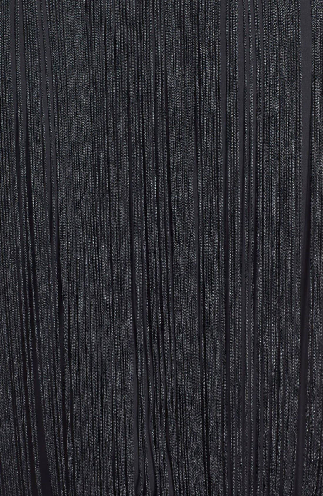 FILTRE, Tassel Embellished Shift Dress, Alternate thumbnail 2, color, 001