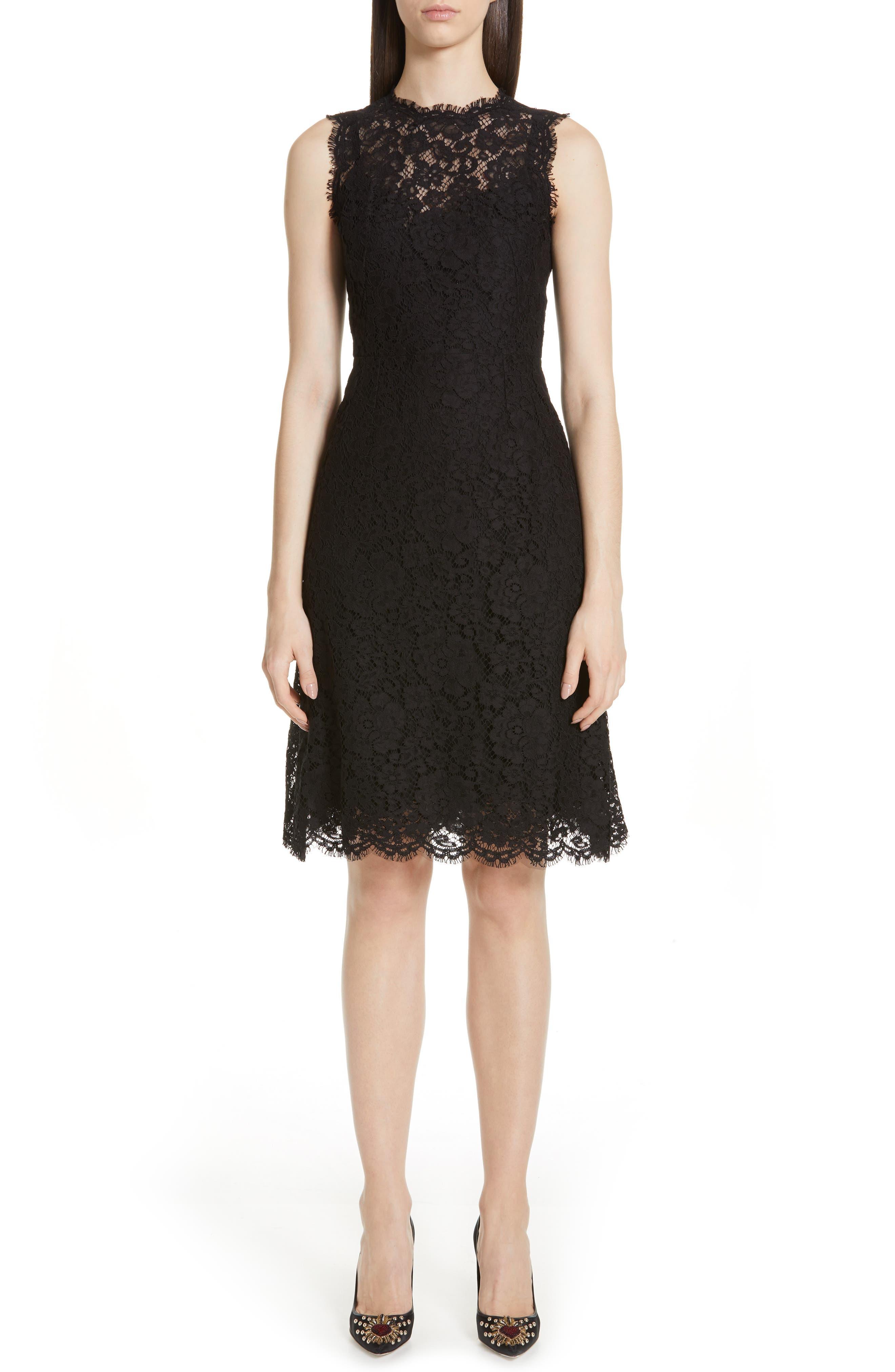 Dolce & gabbana Lace A-Line Dress, US / 48 IT - Black