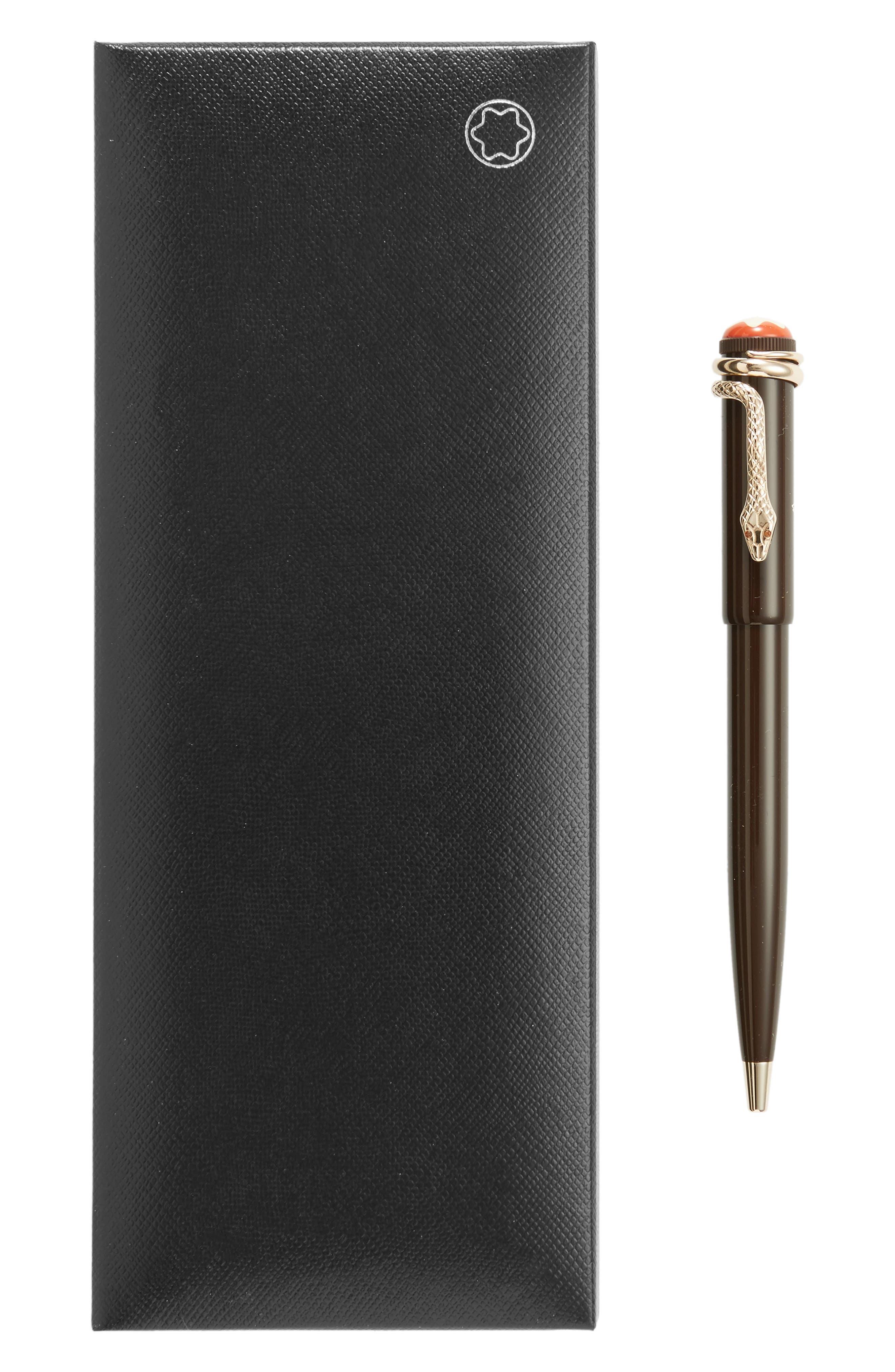 MONTBLANC, Heritage Collection Rouge et Noir Special Edition Ballpoint Pen, Alternate thumbnail 2, color, TROPIC BROWN