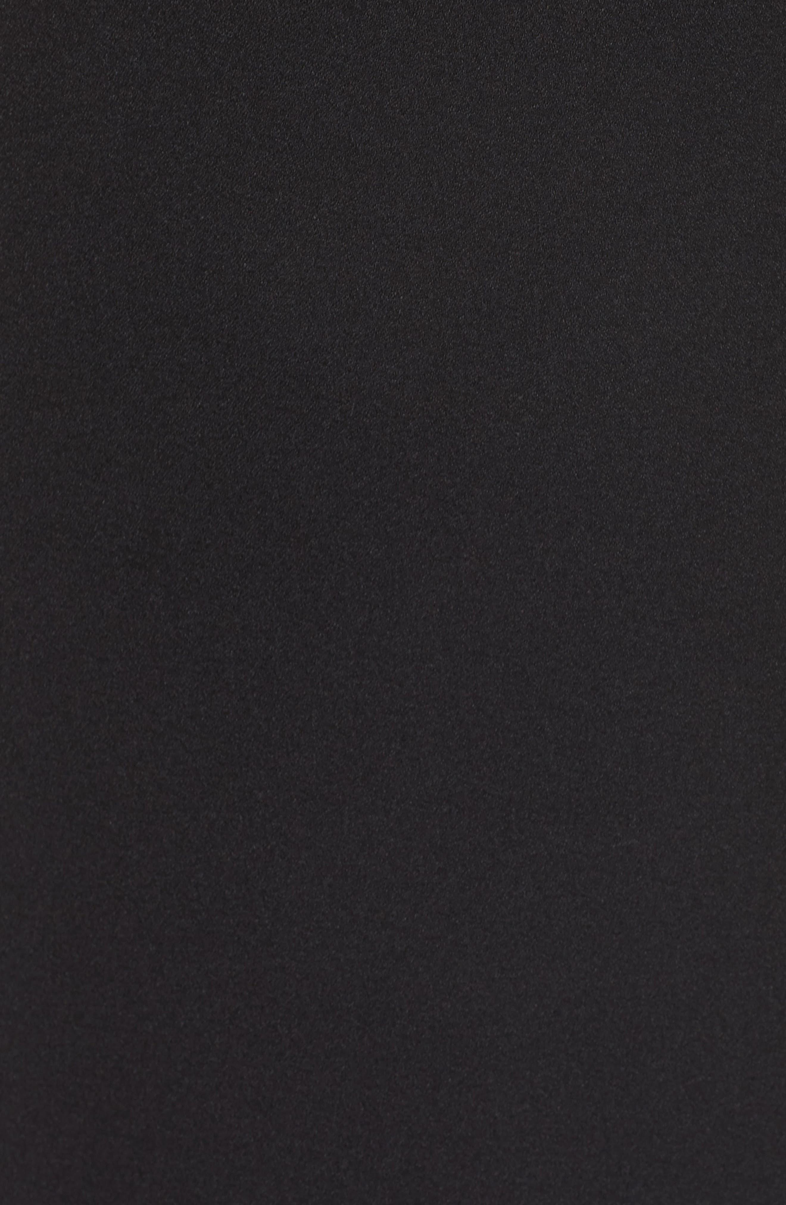 VINCE CAMUTO, Halter Tie Neck A-Line Dress, Alternate thumbnail 7, color, 001
