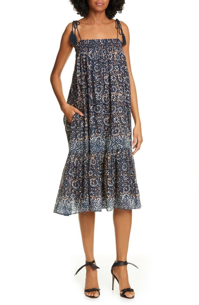 95ce5888ed Ulla Johnson Eugenia Floral Print Midi Dress