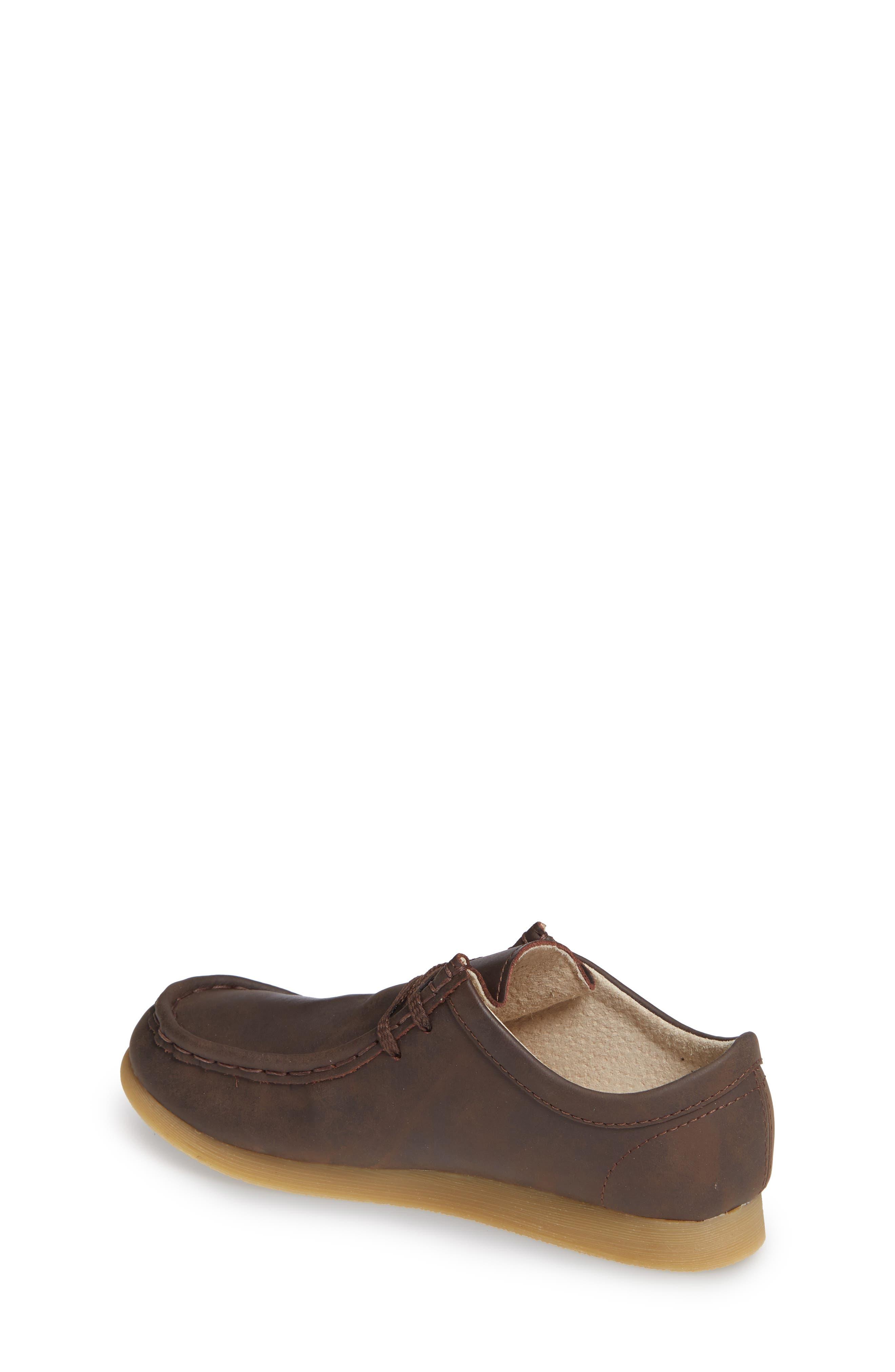 FOOTMATES, Wally Low Chukka Boot, Alternate thumbnail 2, color, BROWN OILED