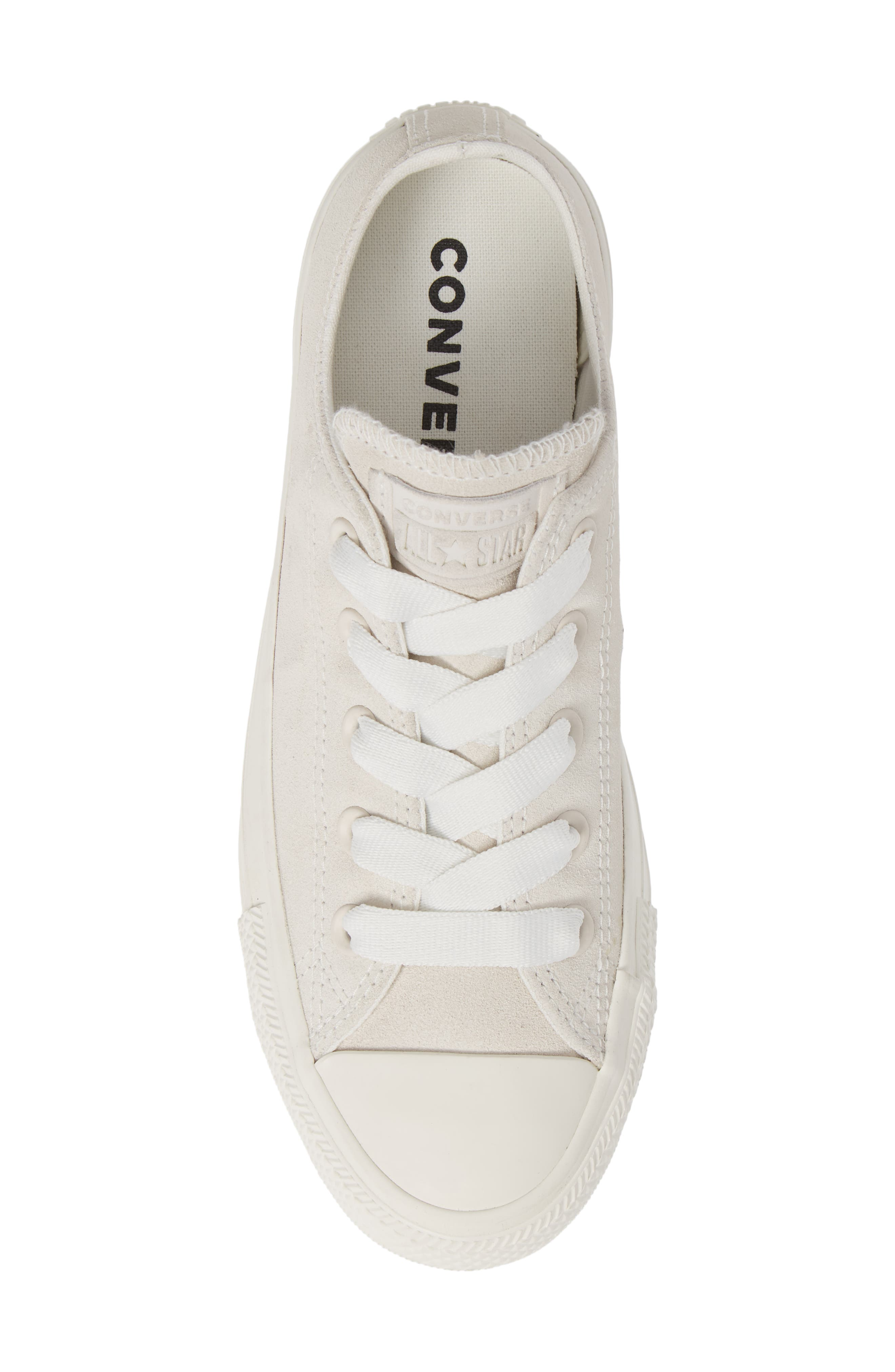 CONVERSE, Chuck Taylor<sup>®</sup> All Star<sup>®</sup> Ox Sneaker, Alternate thumbnail 5, color, VINTAGE WHITE SUEDE