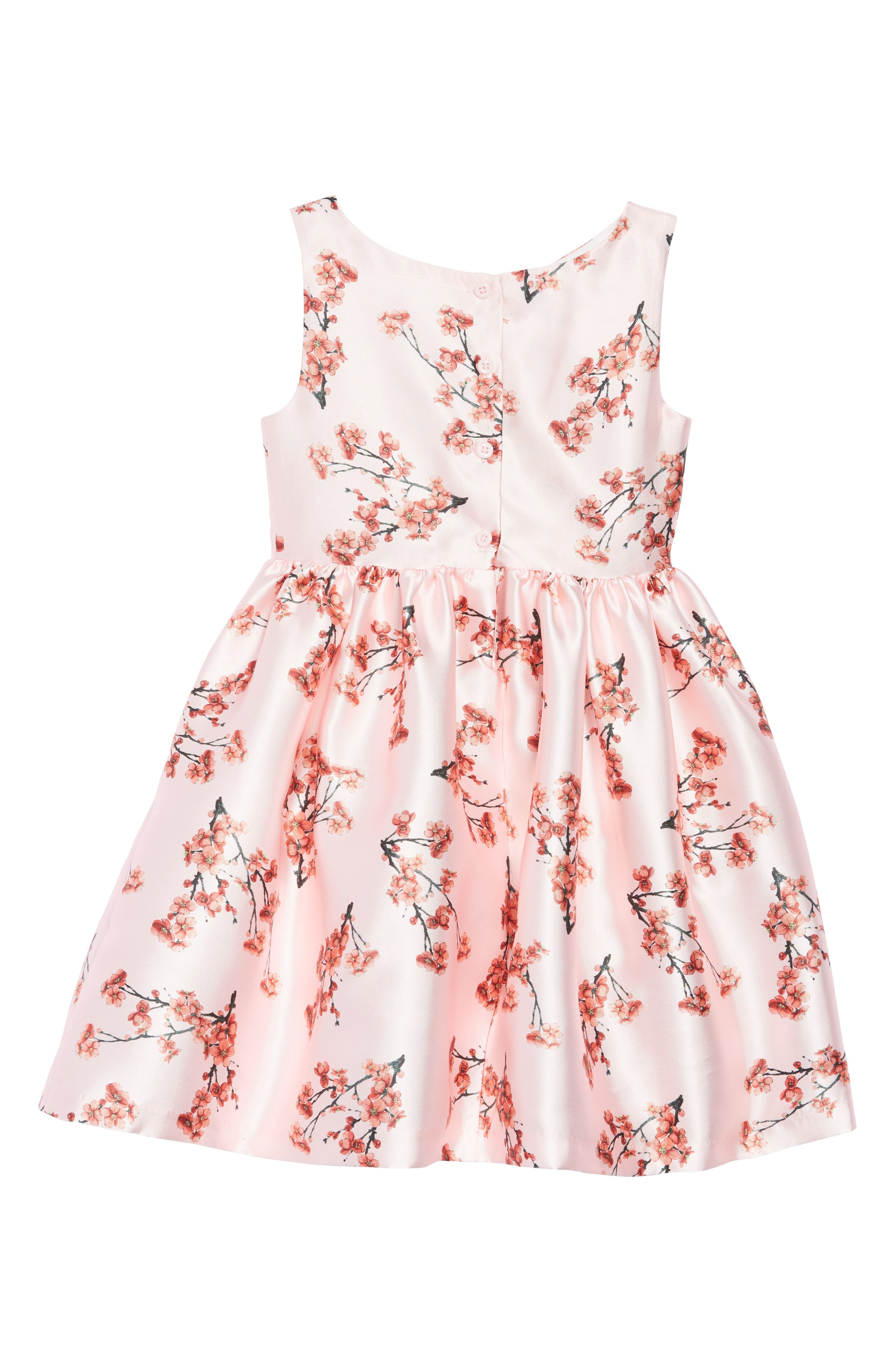FRAIS, Cherry Blossom Fit & Flare Dress, Alternate thumbnail 2, color, PINK