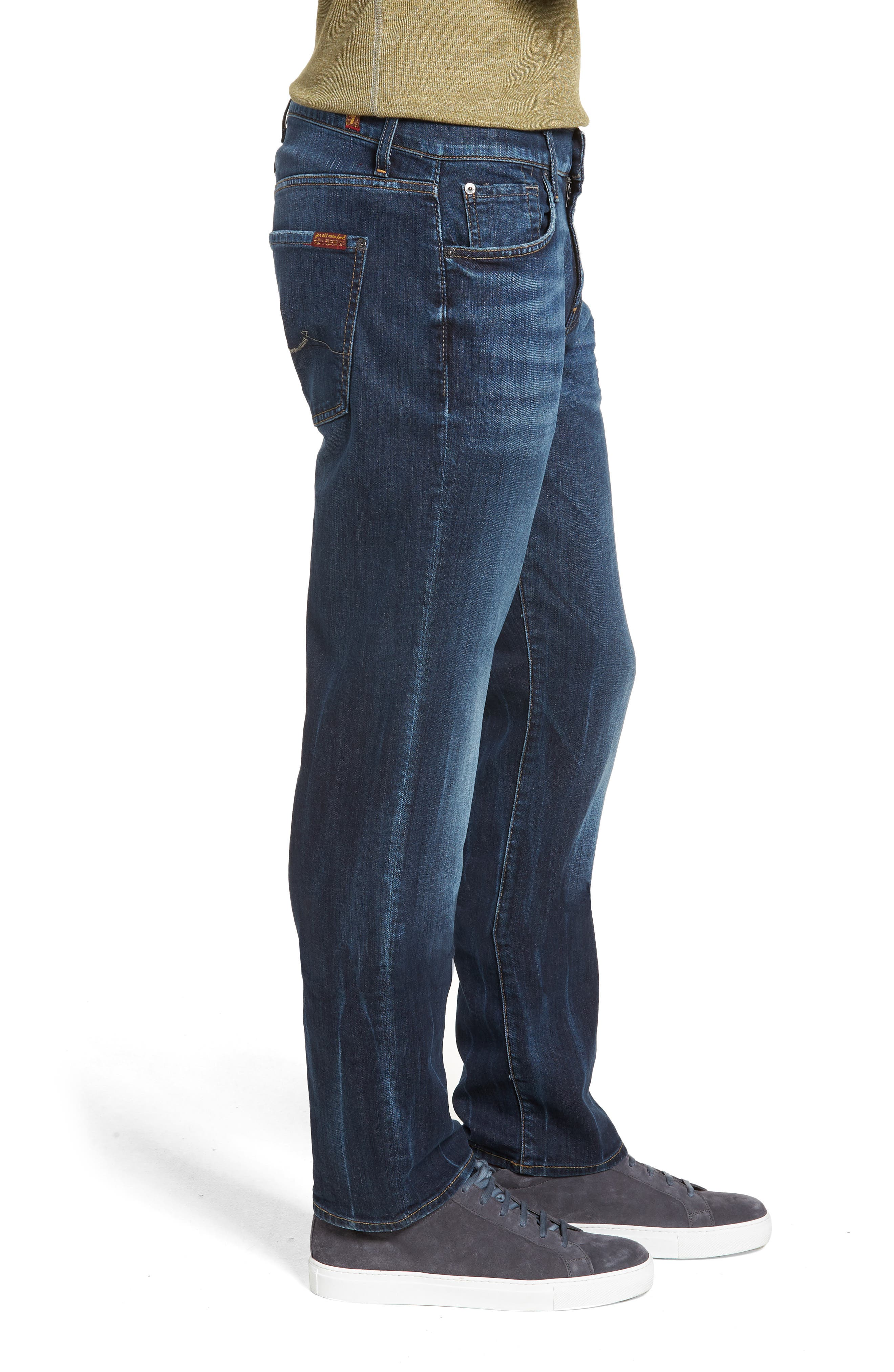 7 FOR ALL MANKIND<SUP>®</SUP>, Luxe Standard Straight Leg Jeans, Alternate thumbnail 3, color, 414