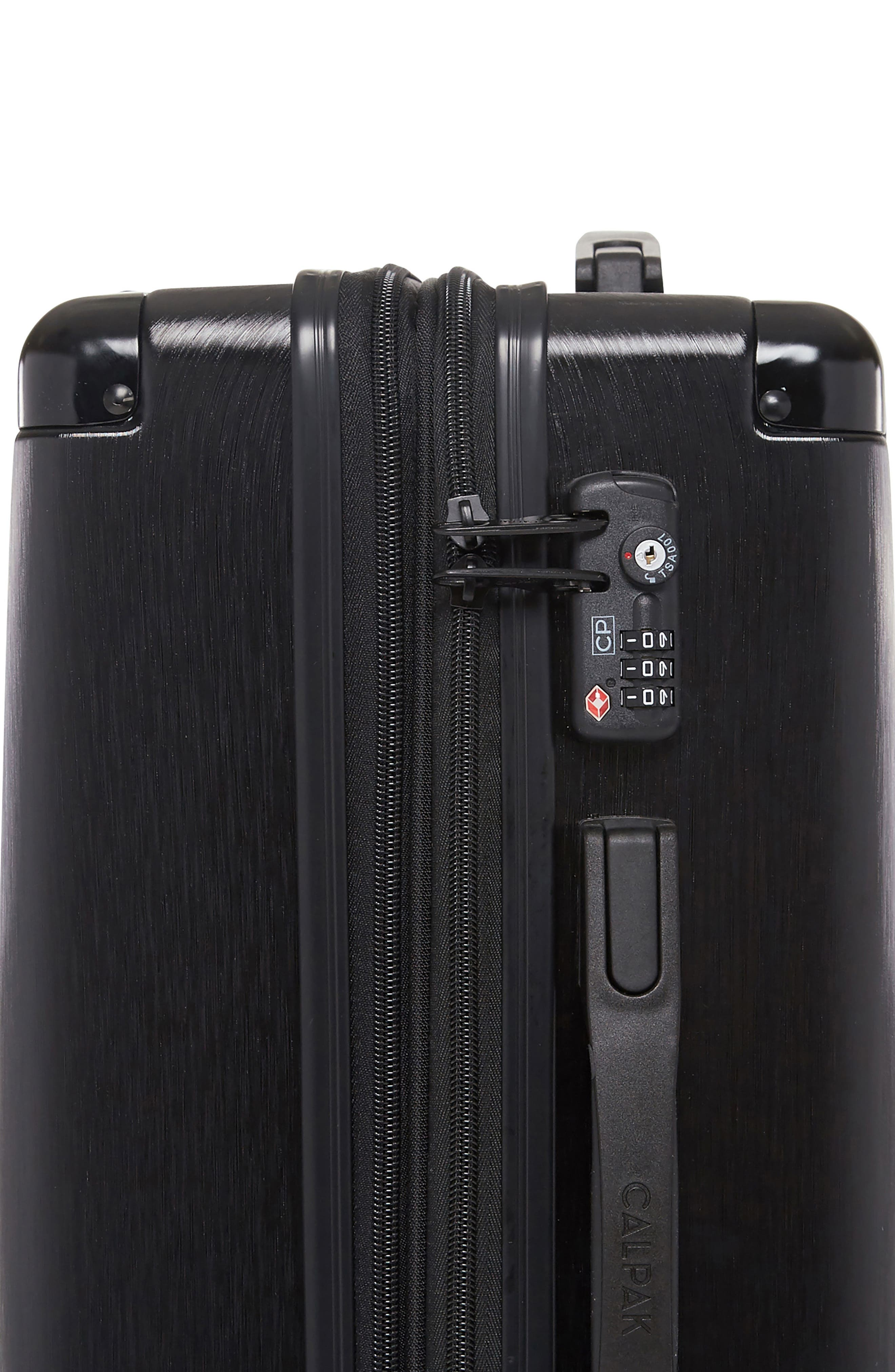 CALPAK, Ambeur 22-Inch Rolling Spinner Carry-On, Alternate thumbnail 3, color, BLACK
