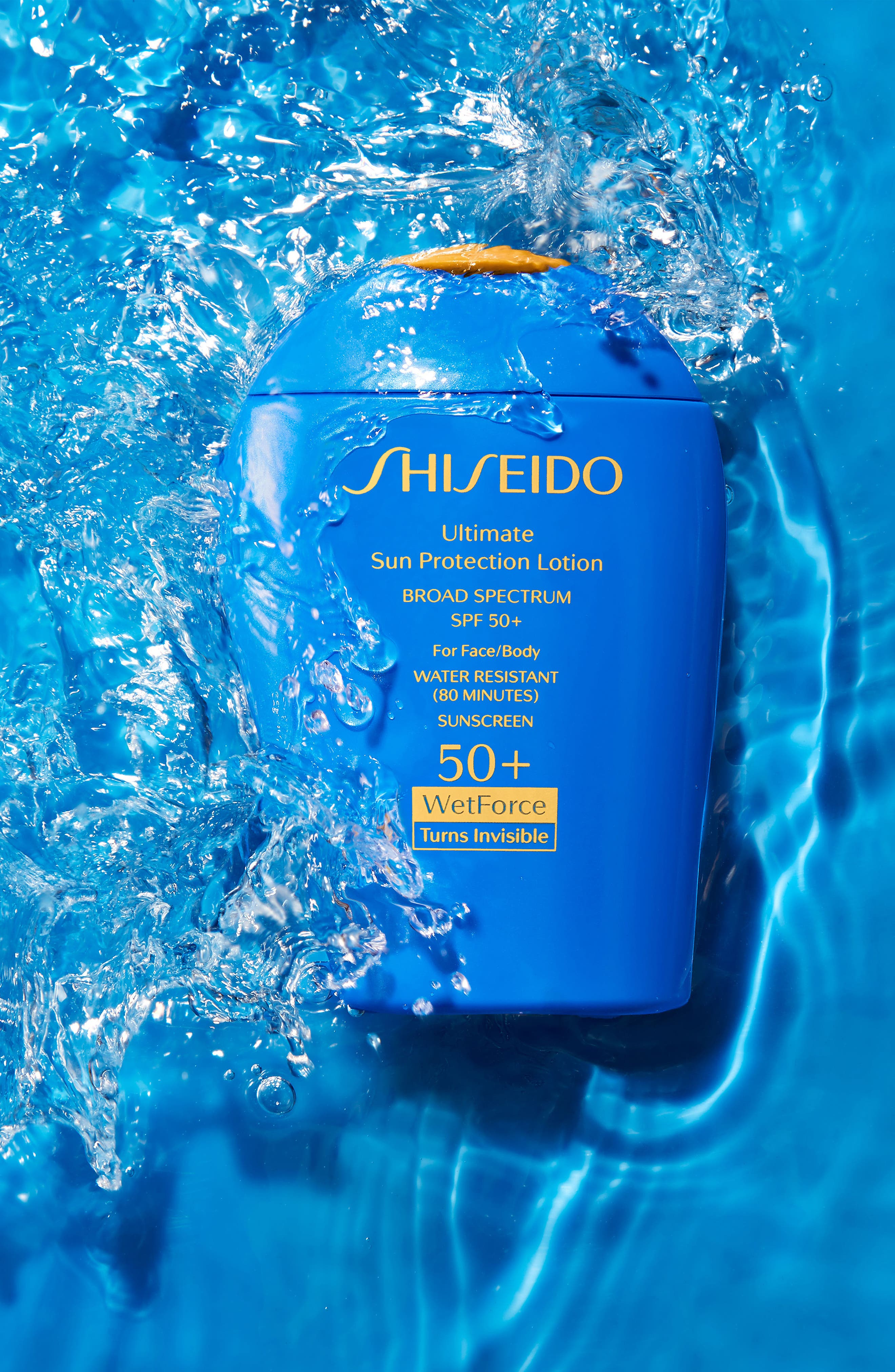 SHISEIDO, WetForce Ultimate Sun Protection Lotion Broad Spectrum SPF 50+, Alternate thumbnail 6, color, NO COLOR