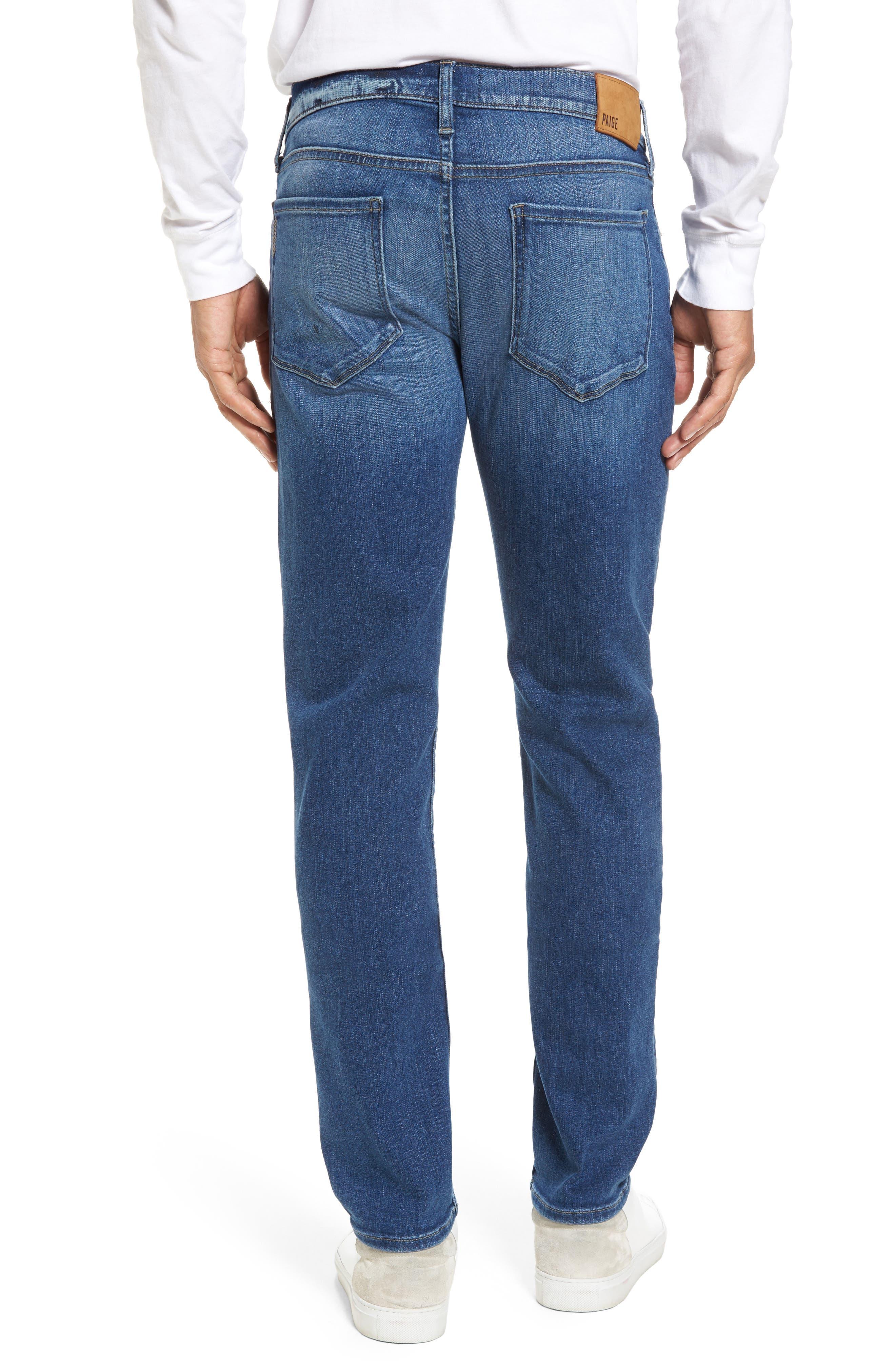 PAIGE, Transcend - Lennox Slim Fit Jeans, Alternate thumbnail 2, color, MULHOLLAND
