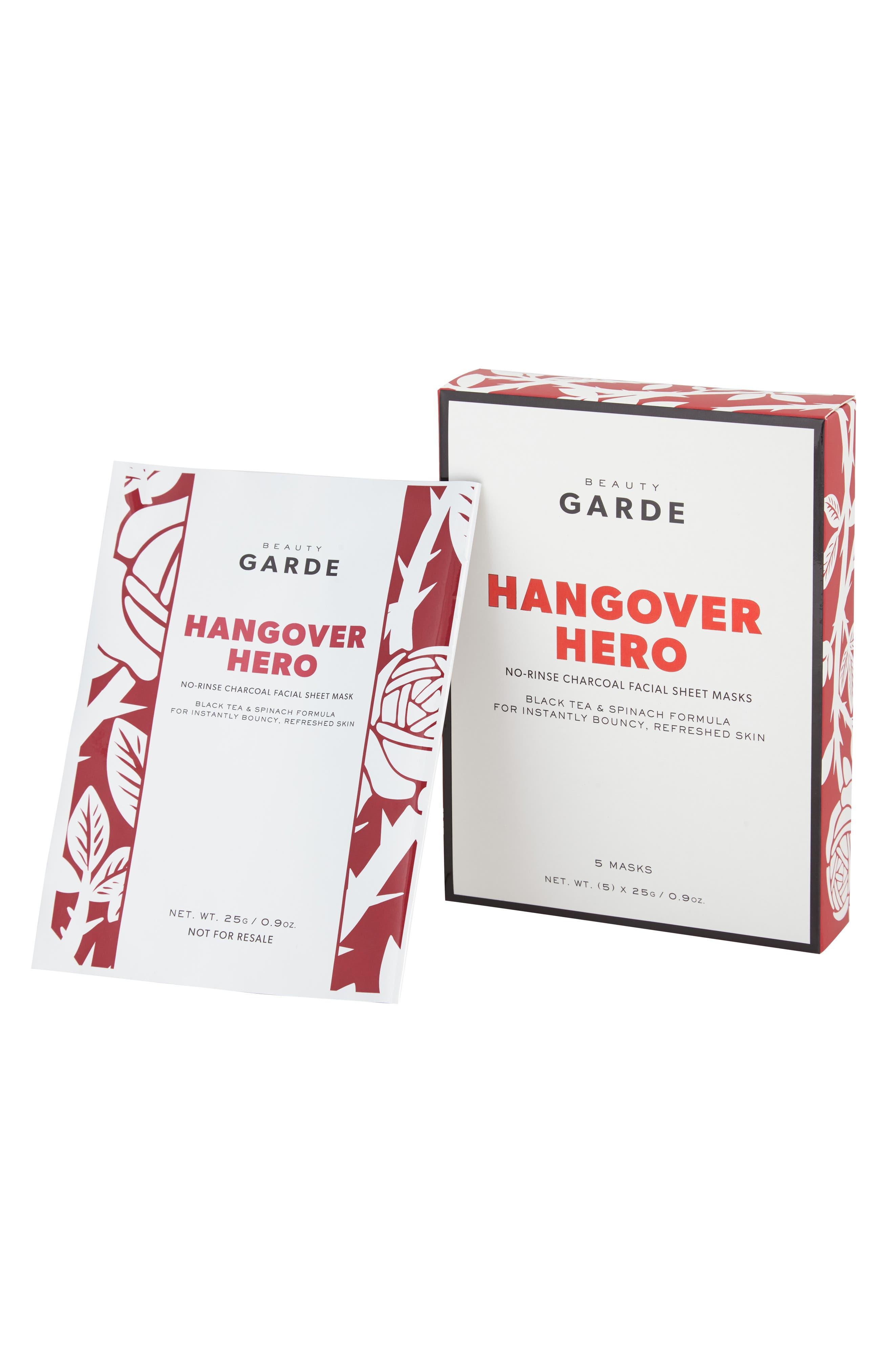 BEAUTYGARDE, Hangover Hero Sheet Mask, Main thumbnail 1, color, NO COLOR