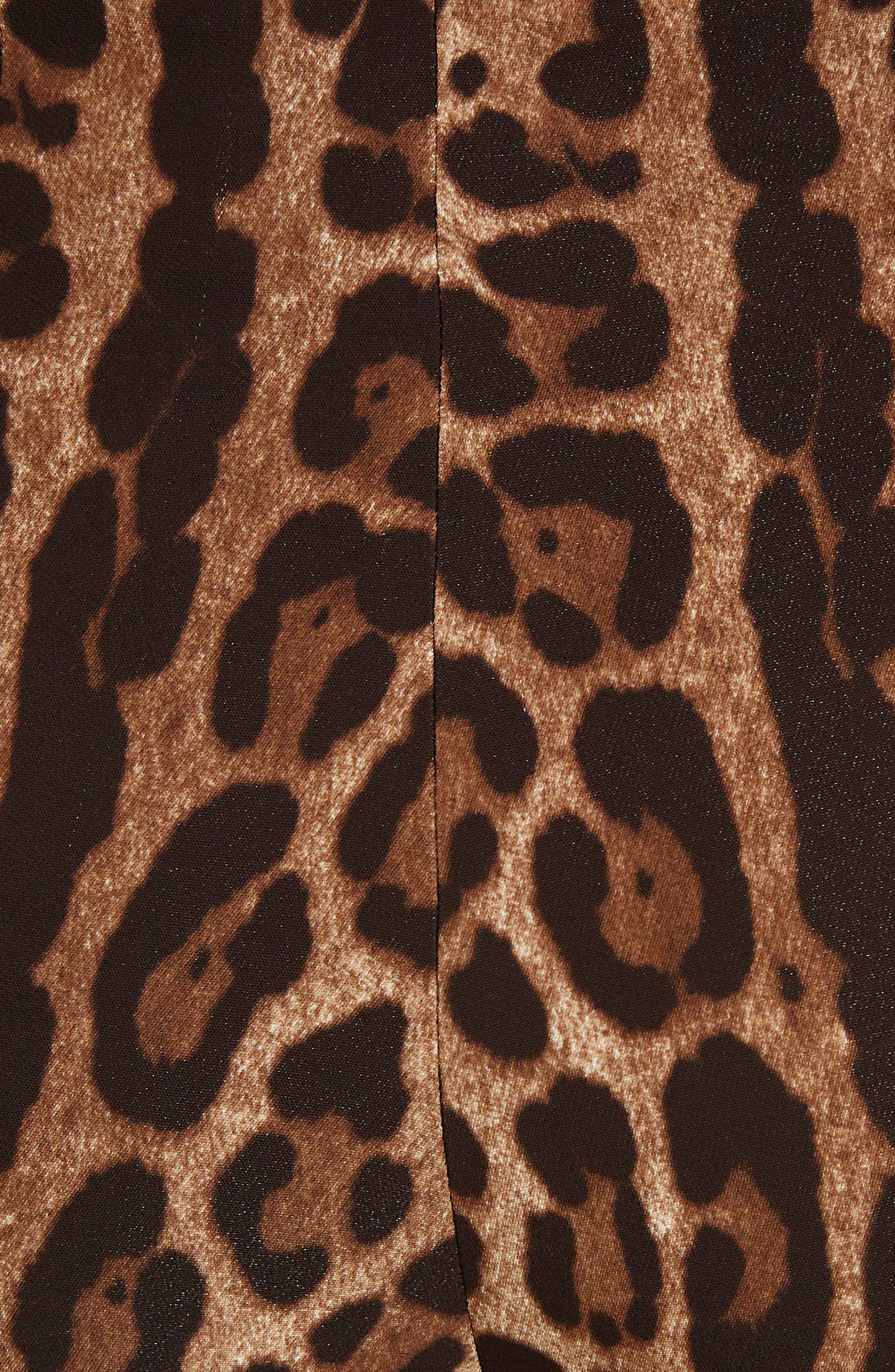 DOLCE&GABBANA, Leopard Print Cady Leggings, Alternate thumbnail 5, color, LEO