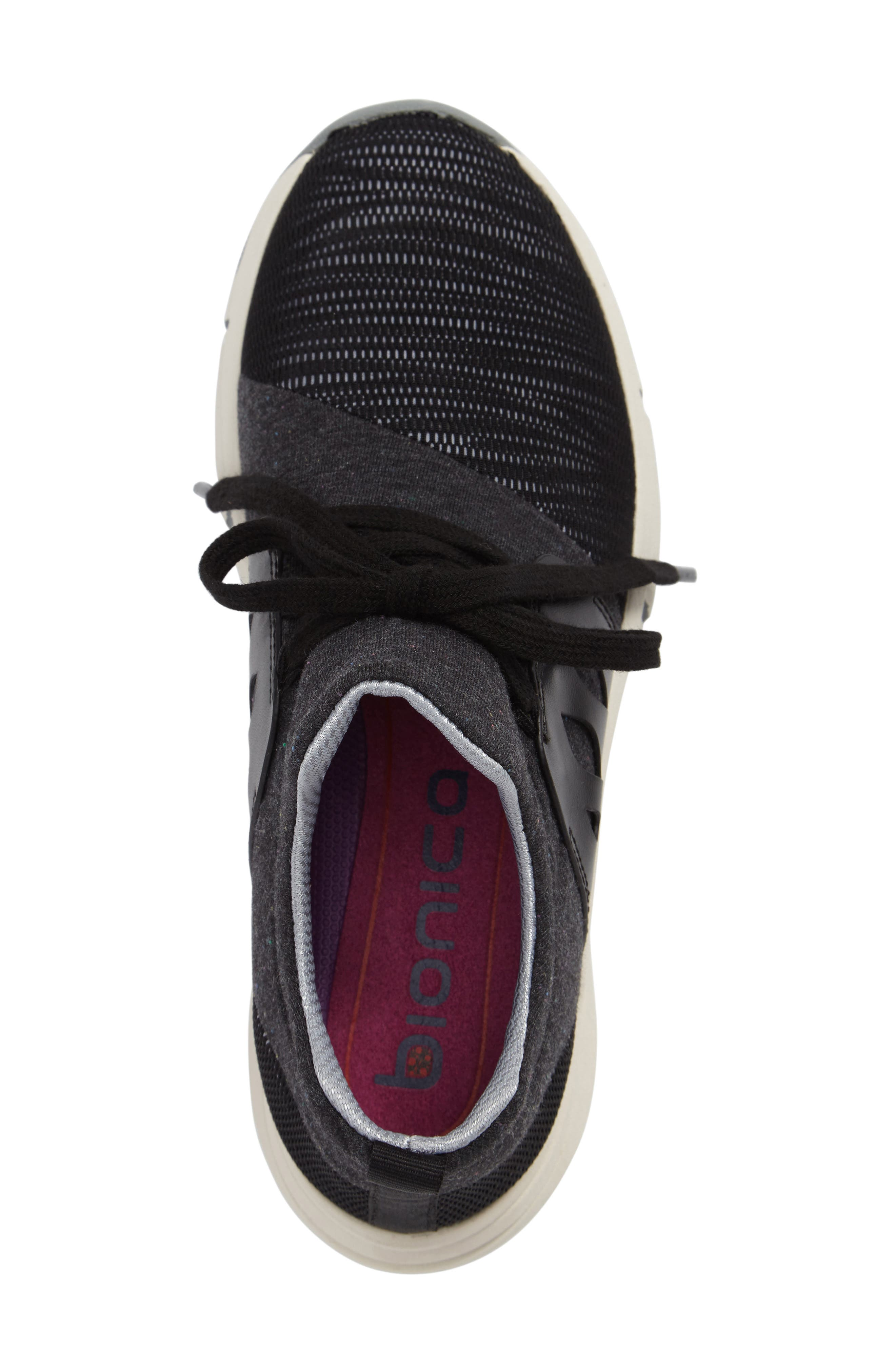 BIONICA, Ordell Sneaker, Alternate thumbnail 3, color, BLACK FABRIC